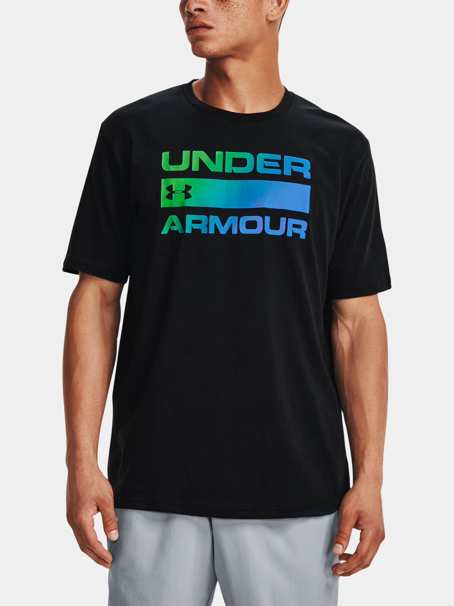 Tričko Under Armour UA TEAM ISSUE WORDMARK SS-BLK (1)