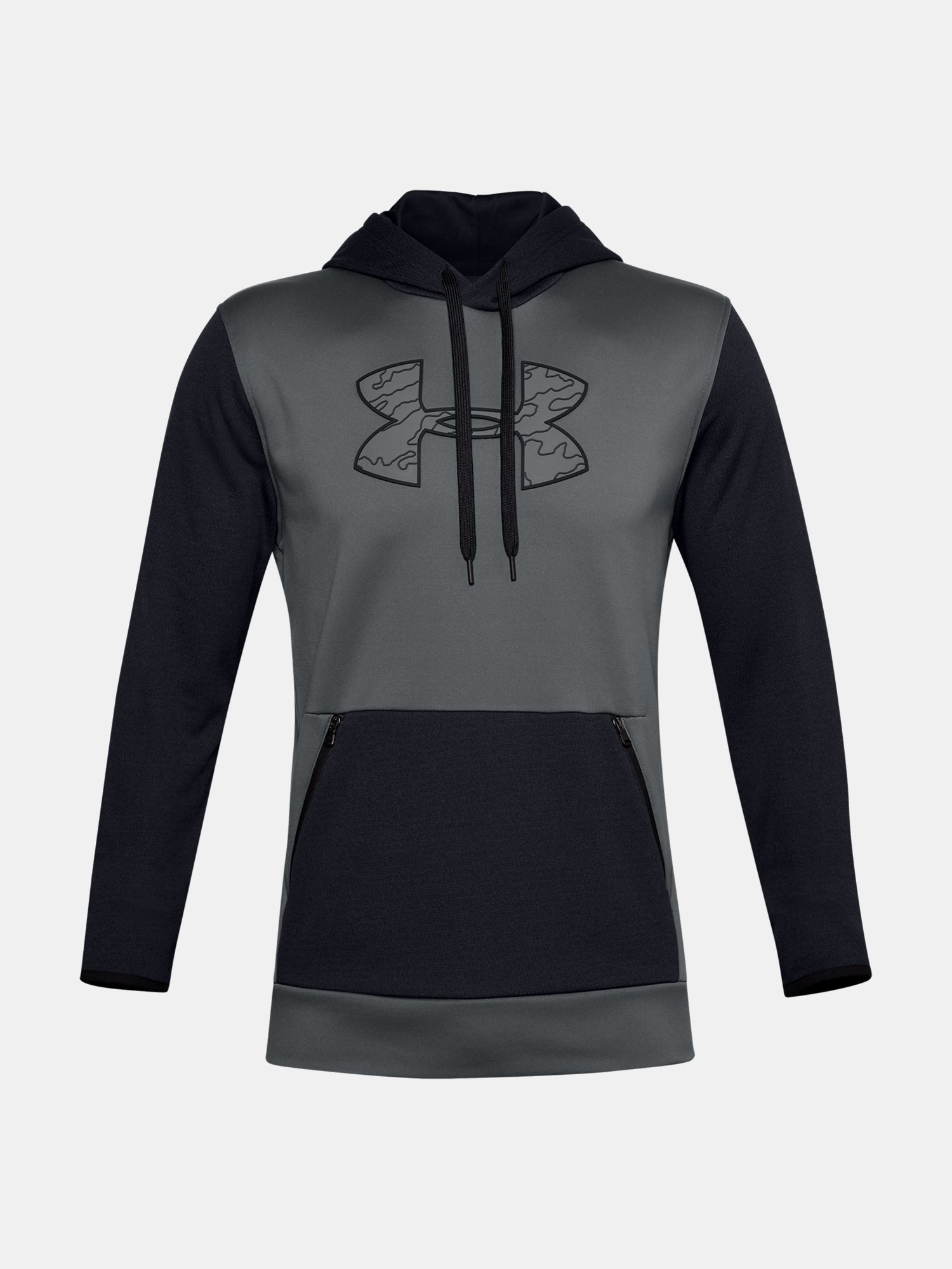 Mikina Under Armour AF Textured Big Logo HD-GRY (3)