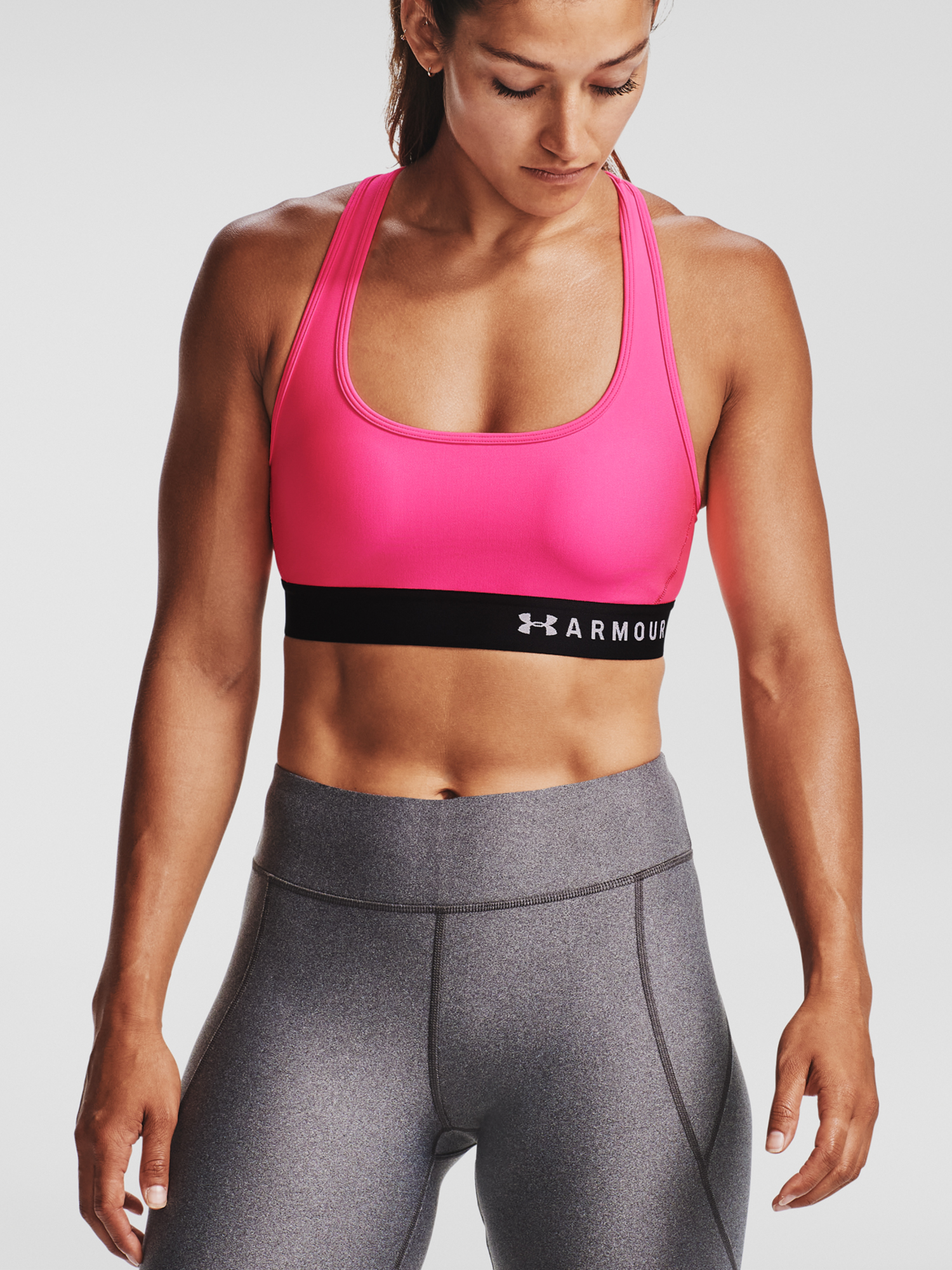 Podprsenka Under Armour Armour Mid Crossback Bra-PNK (1)