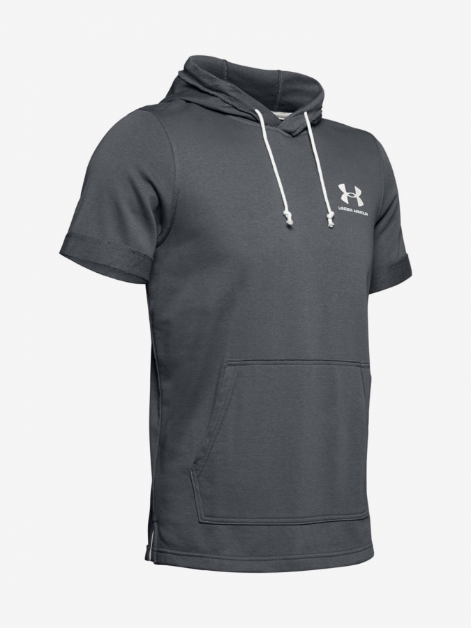 Mikina Under Armour Sportstyle Terry Ss Hoody-Gry (3)