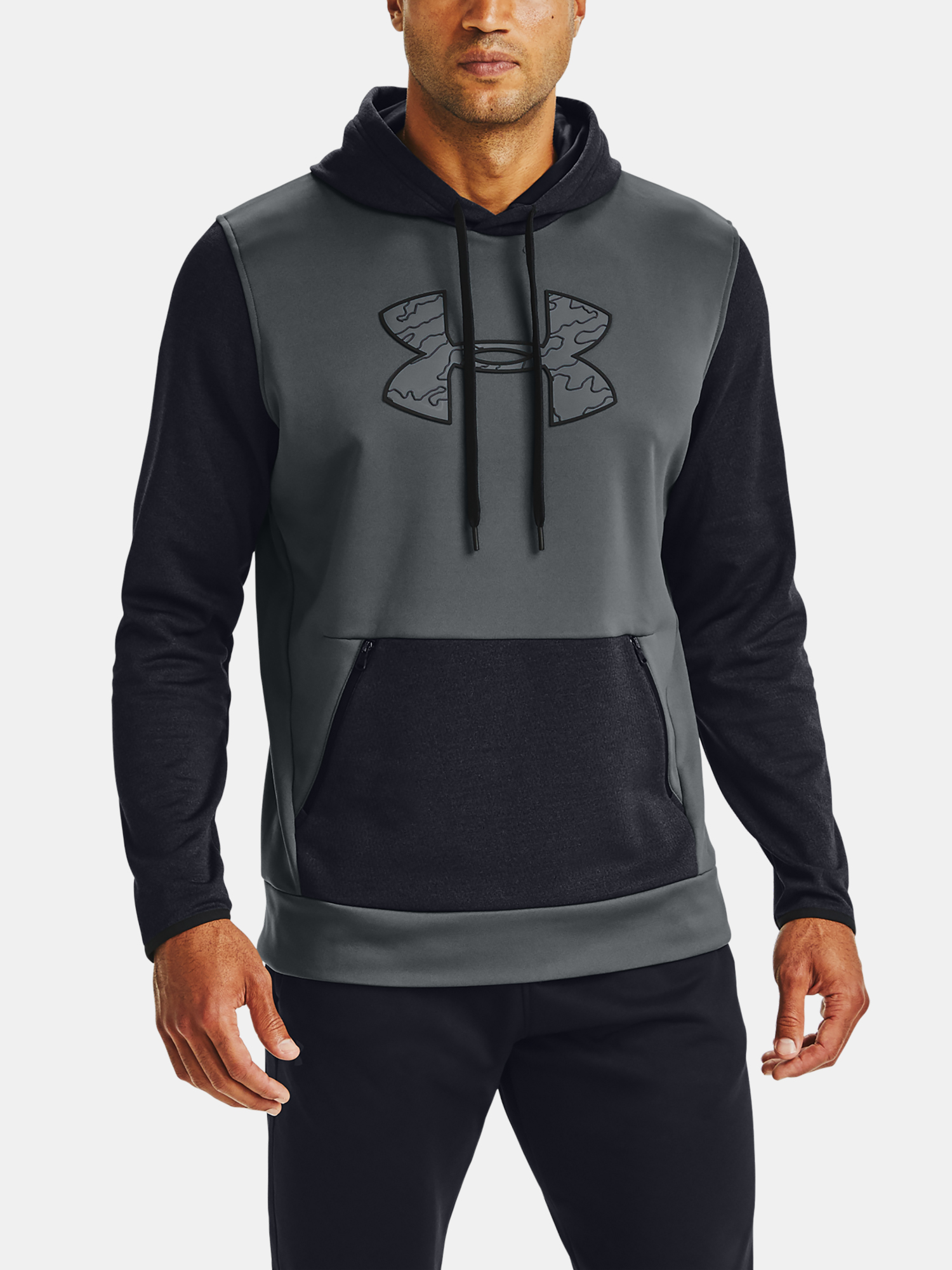 Mikina Under Armour AF Textured Big Logo HD-GRY (1)