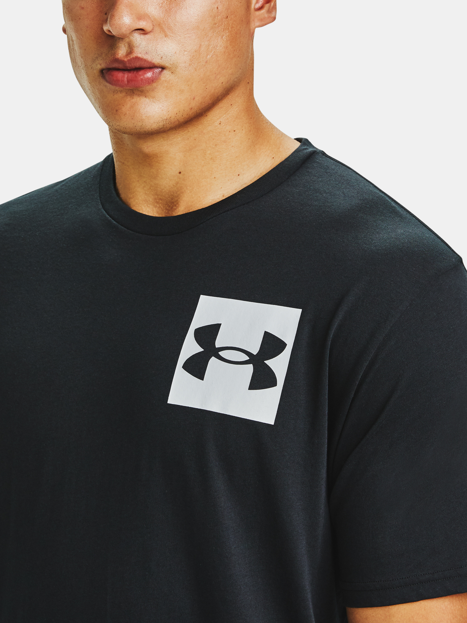 Tričko Under Armour UA BOX LOGO SS-BLK (5)