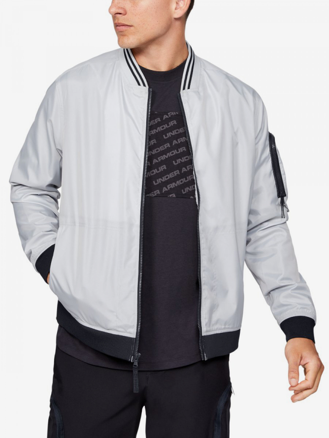 Bunda Under Armour Unstoppable Woven Bomber-Gry (1)