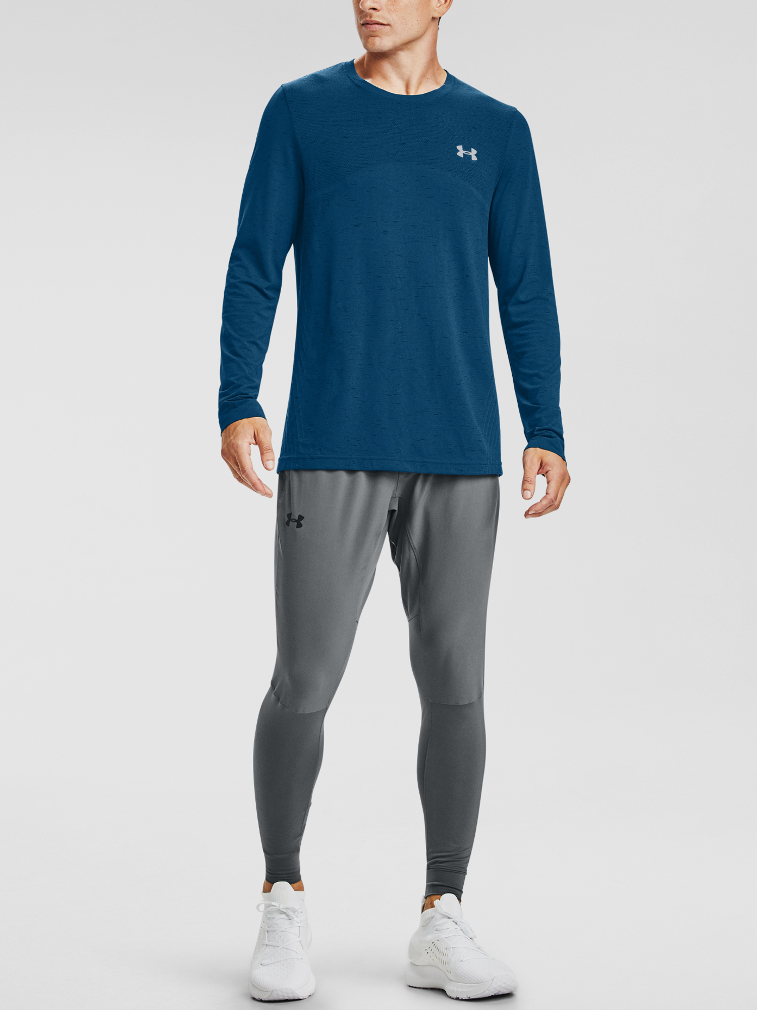Tričko Under Armour UA Seamless LS-BLU (3)