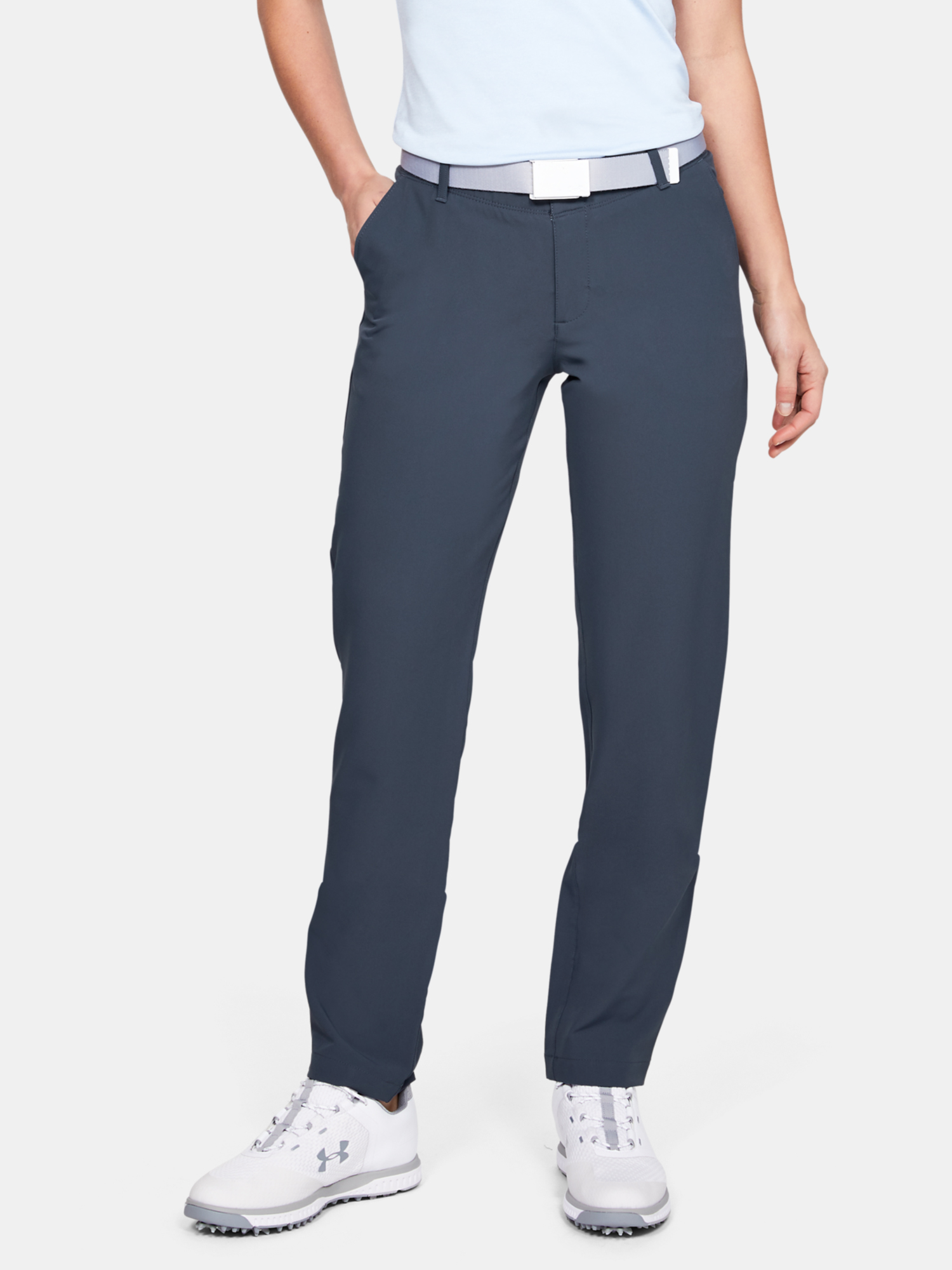 Kalhoty Under Armour Links Pant-GRY (1)