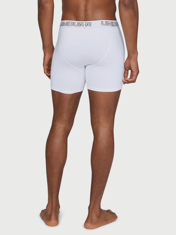 Boxerky Under Armour Charged Cotton 6in 3Pk-WHT (2)