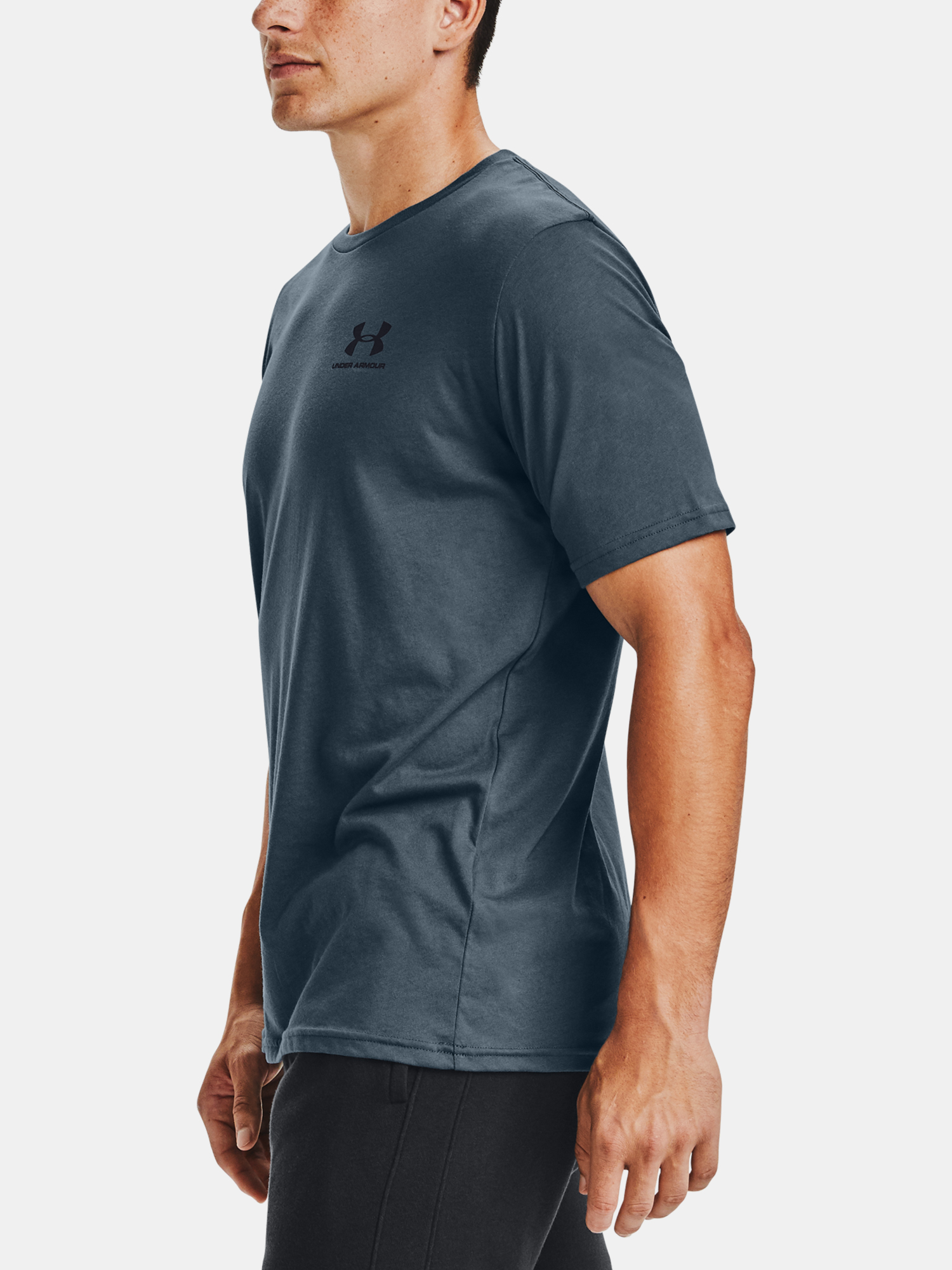 Tričko Under Armour SPORTSTYLE LC SS-BLU (5)