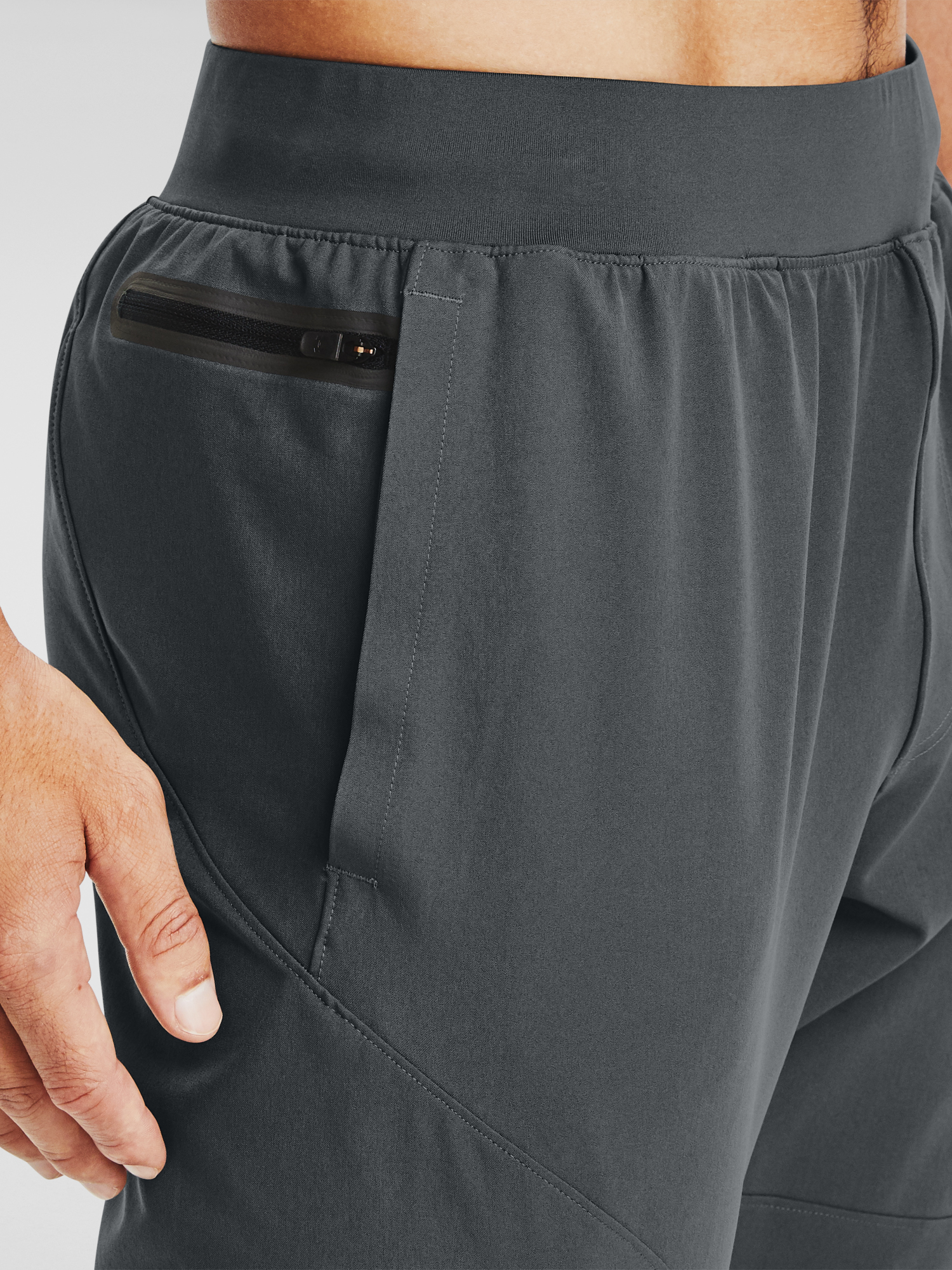 Tepláky Under Armour UA UNSTOPPABLE TAPERED PANTS-GRY (4)