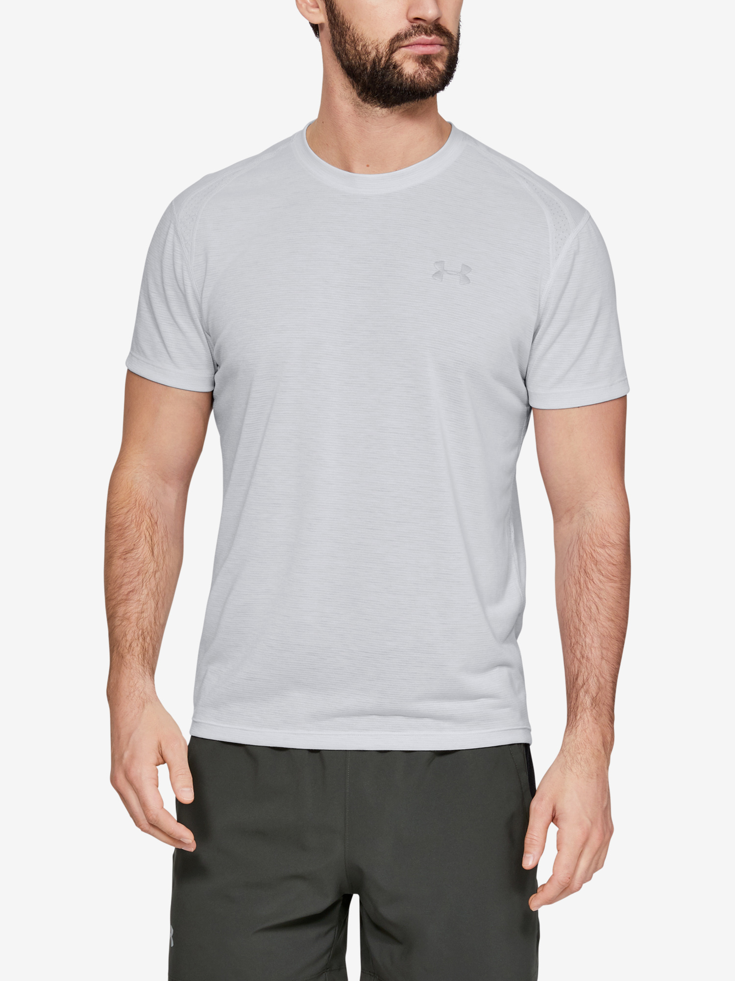 Tričko Under Armour Streaker 2.0 Shortsleeve-Gry (1)