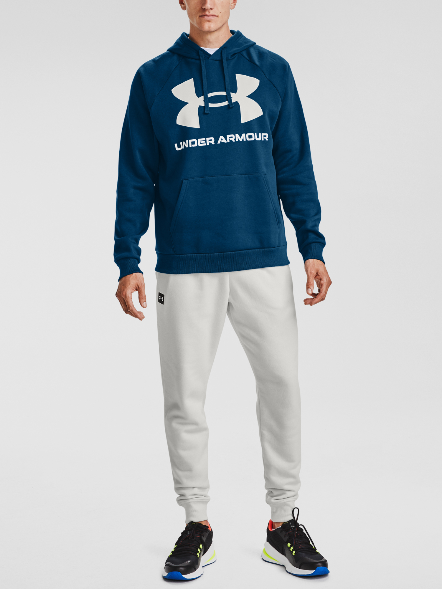 Mikina Under Armour UA Rival Fleece Big Logo HD-BLU (3)