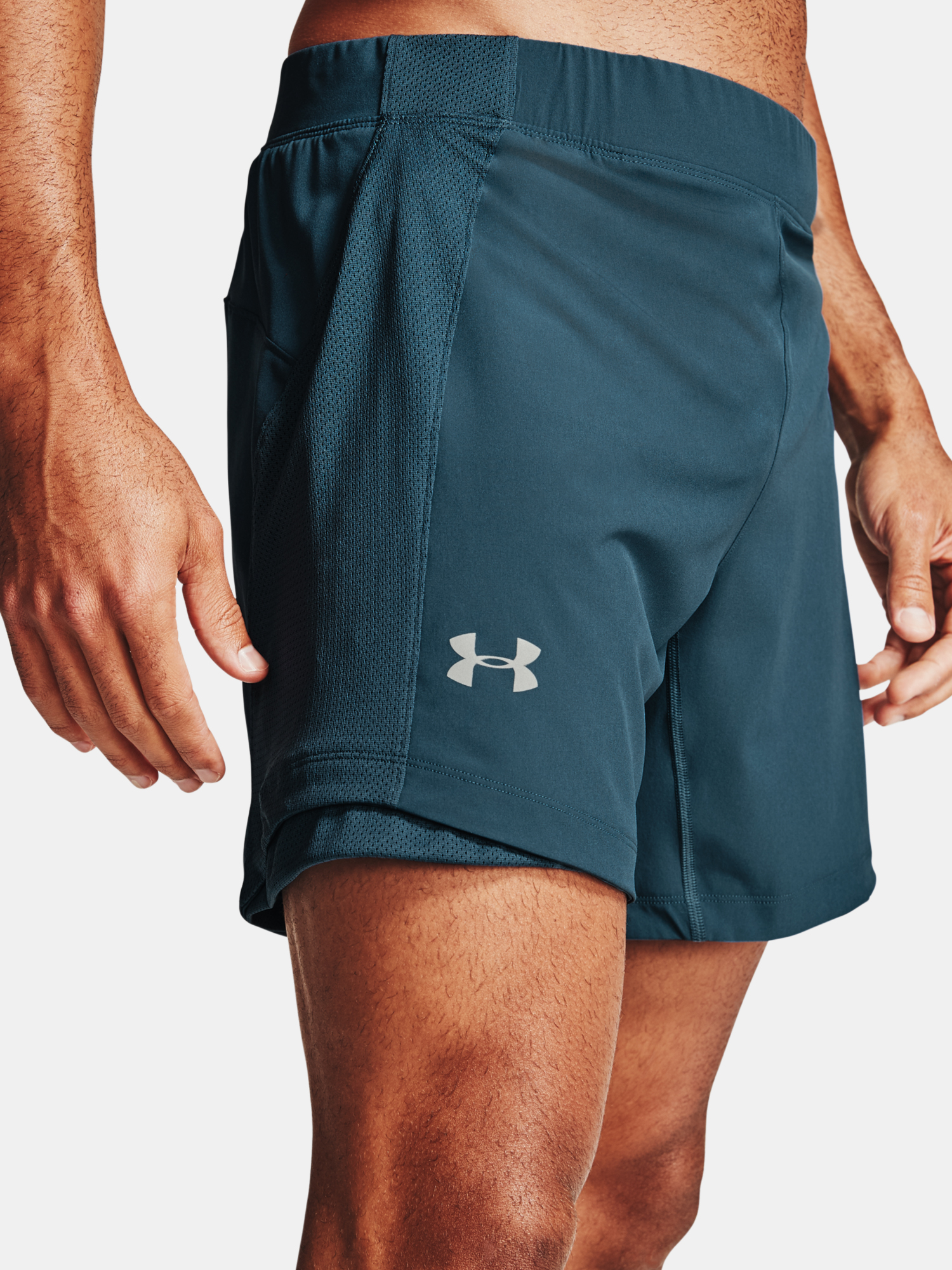 Kraťasy Under Armour QLIFIER SPEEDPOCKET 7'' SHORT-BLU (5)