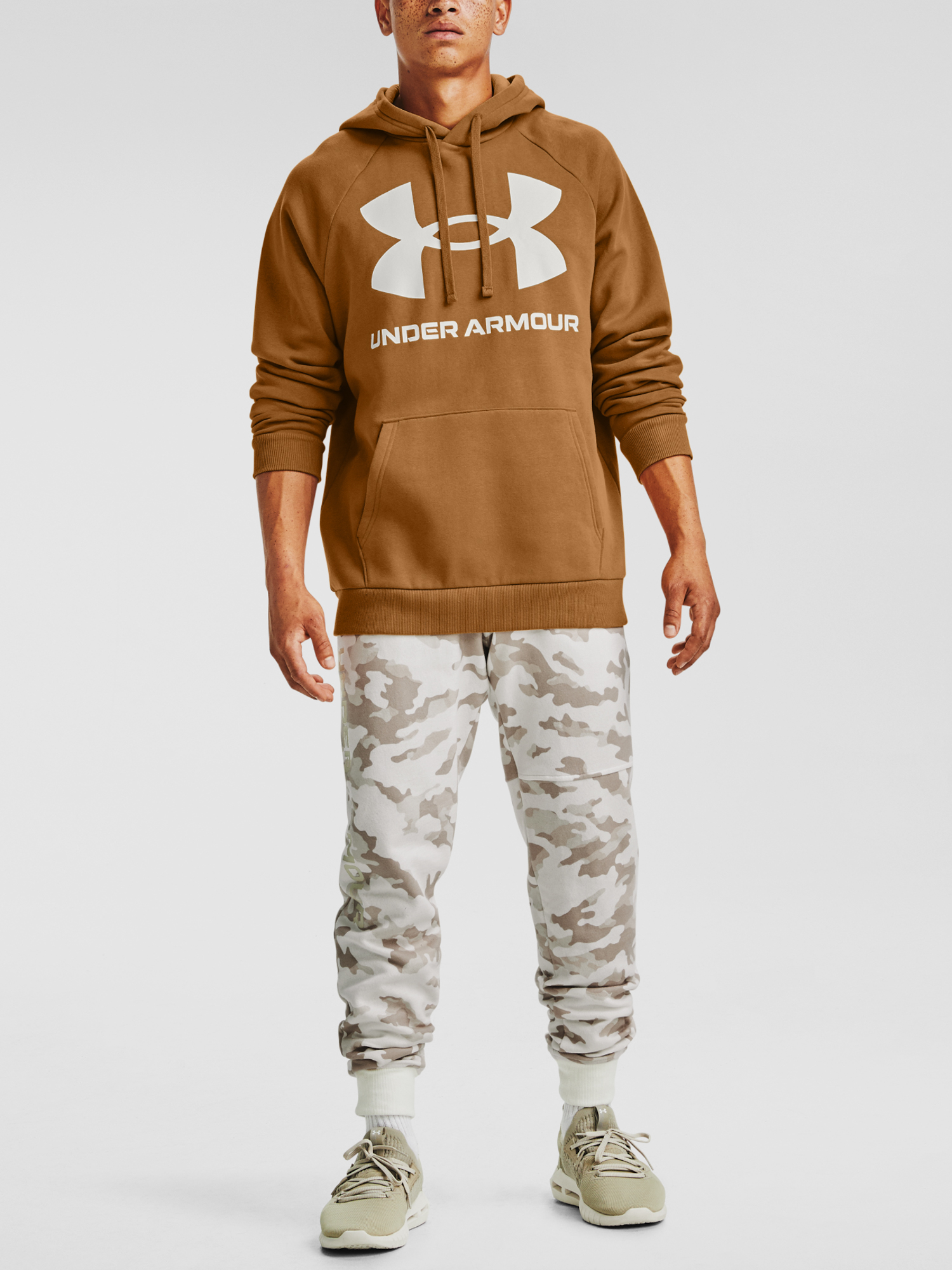 Mikina Under Armour Rival Fleece Big Logo HD-YLW (6)
