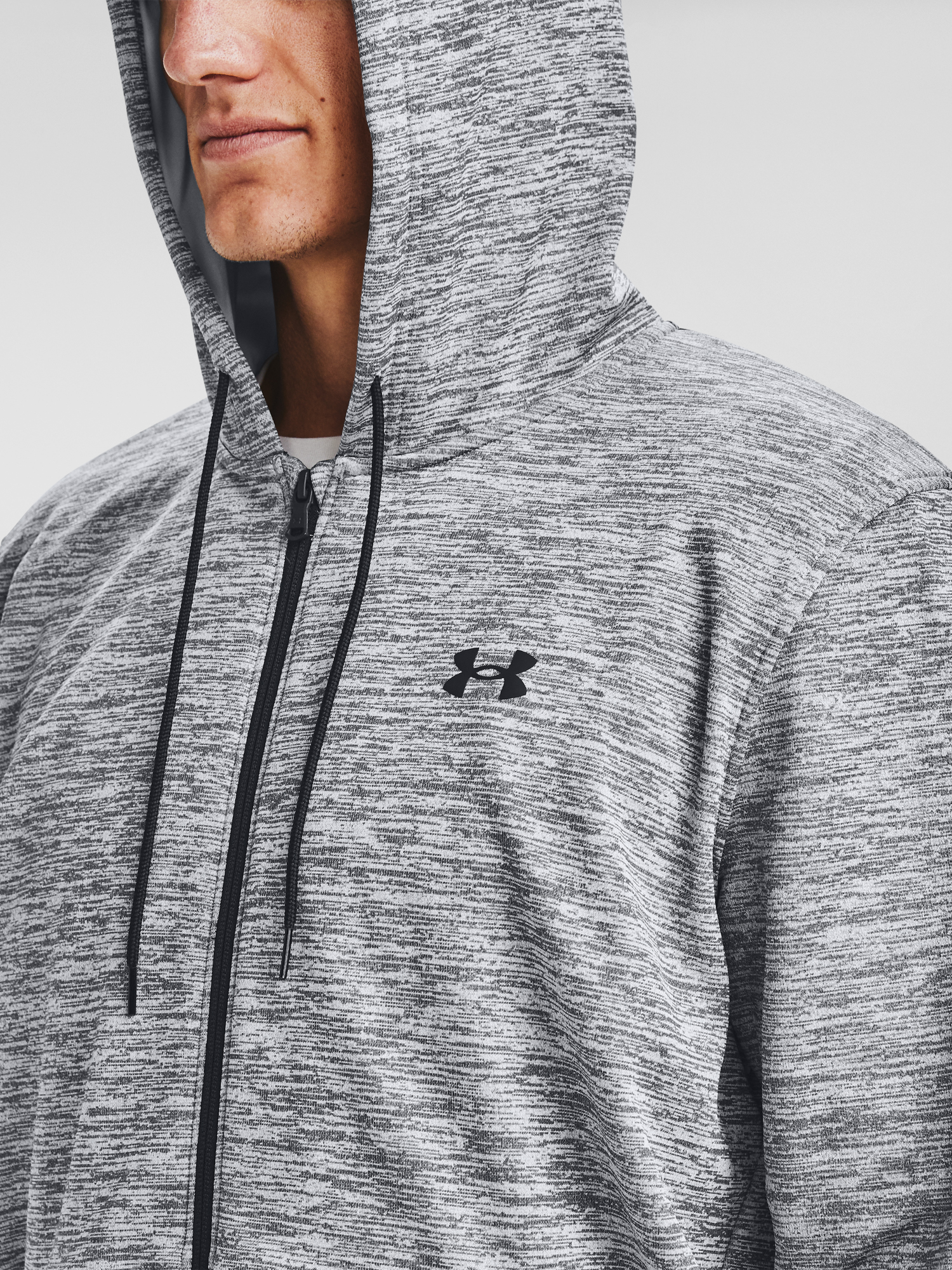 Mikina Under Armour UA Armour Fleece FZ Hoodie-GRY (4)