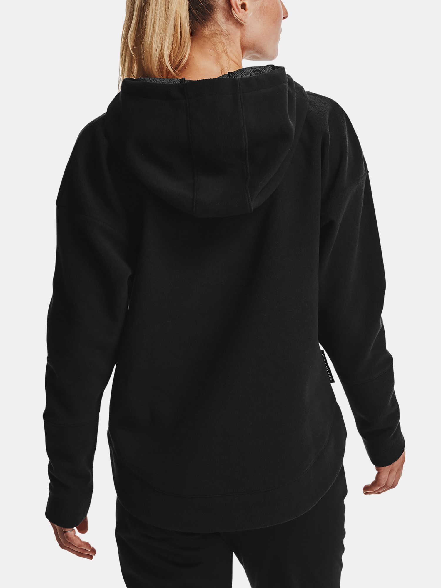 Mikina Under Armour Recover Fleece Hoodie-BLK (2)