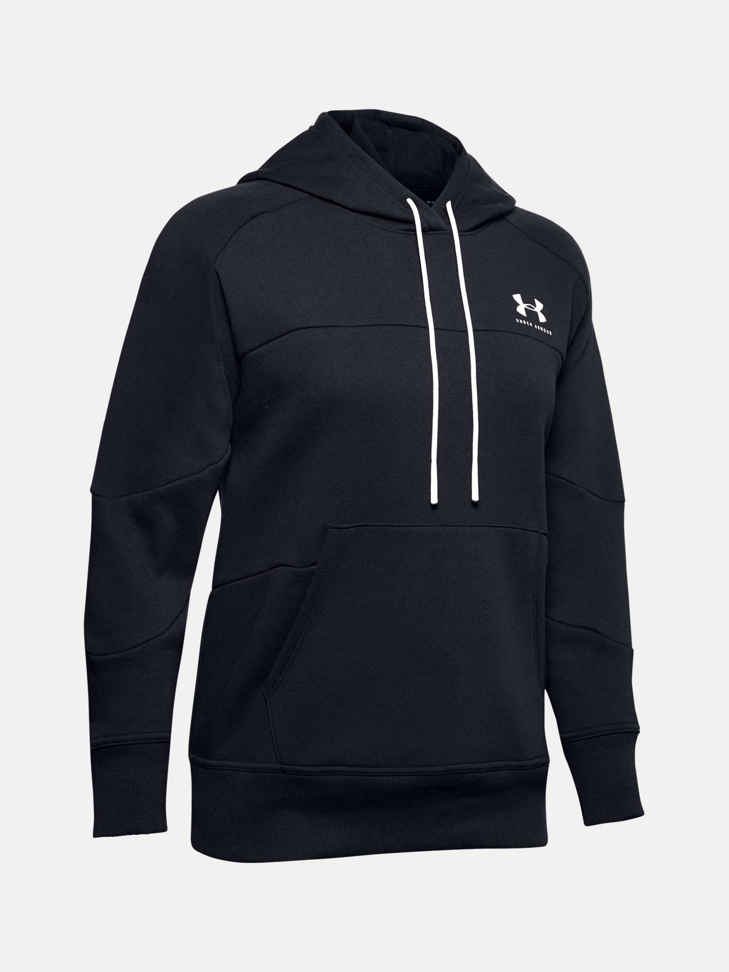 MIkina Under Armour Rival Fleece Color block Hoodie-BLK (3)
