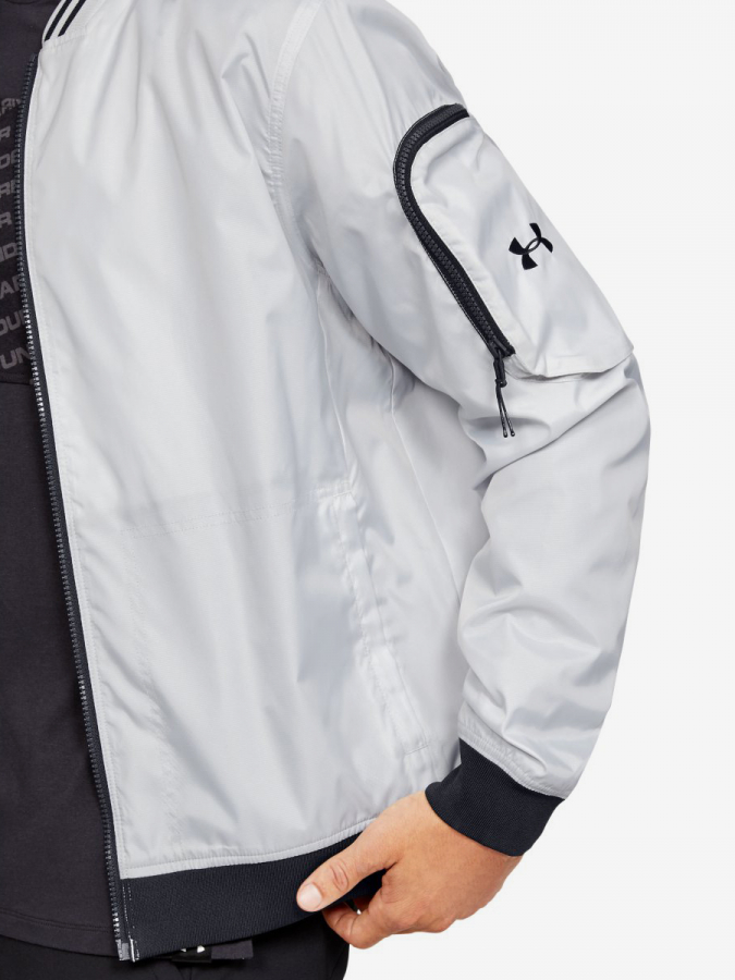 Bunda Under Armour Unstoppable Woven Bomber-Gry (6)