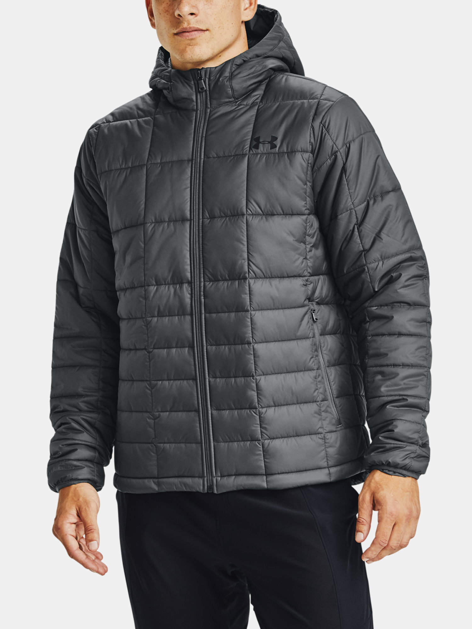 Bunda Under Armour UA Armour Insulated Hooded Jkt-GRY (1)