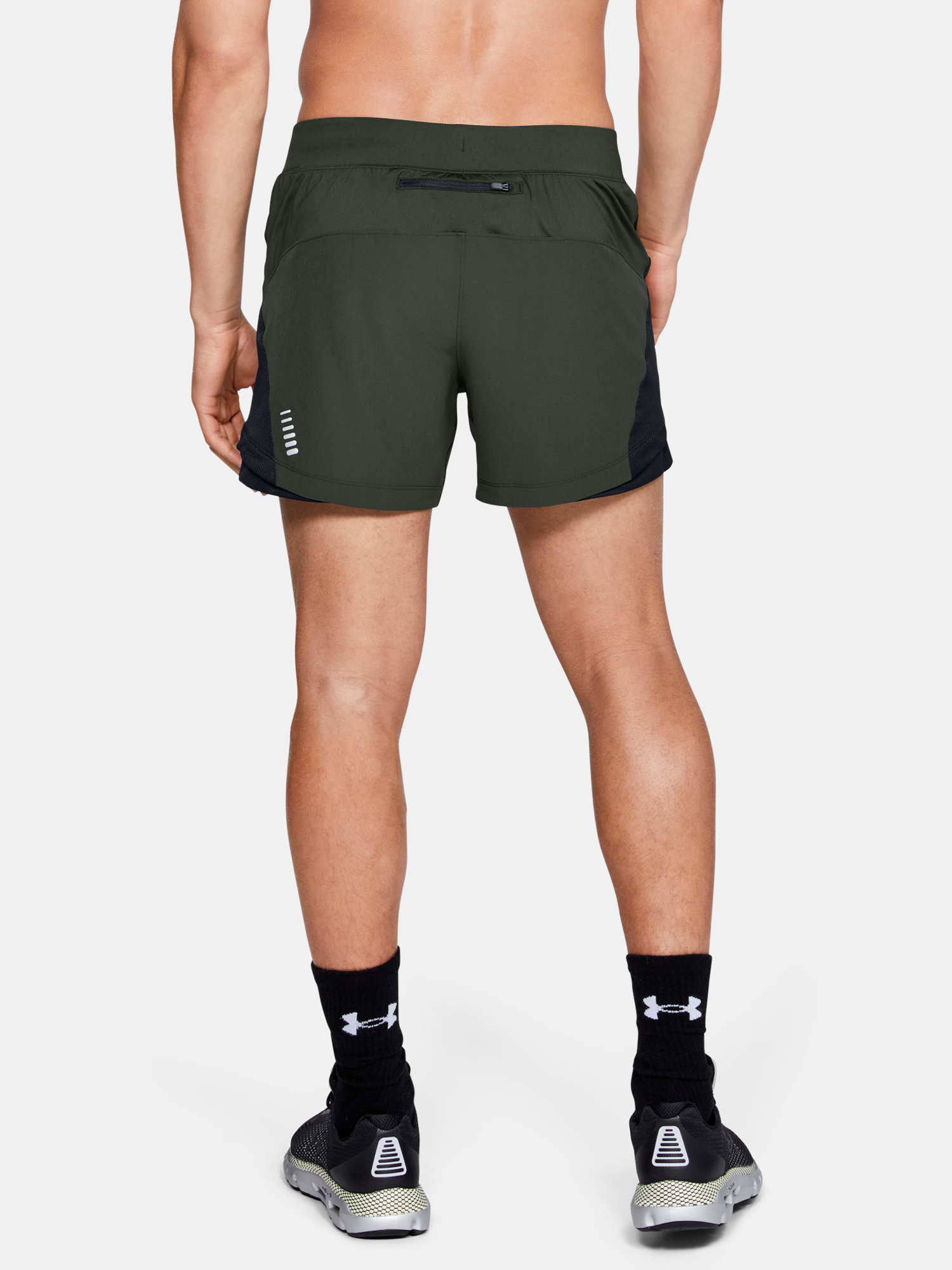 Kraťasy Under Armour QUALIFIER SPEEDPOCKET 5'' SHORT-GRN (2)