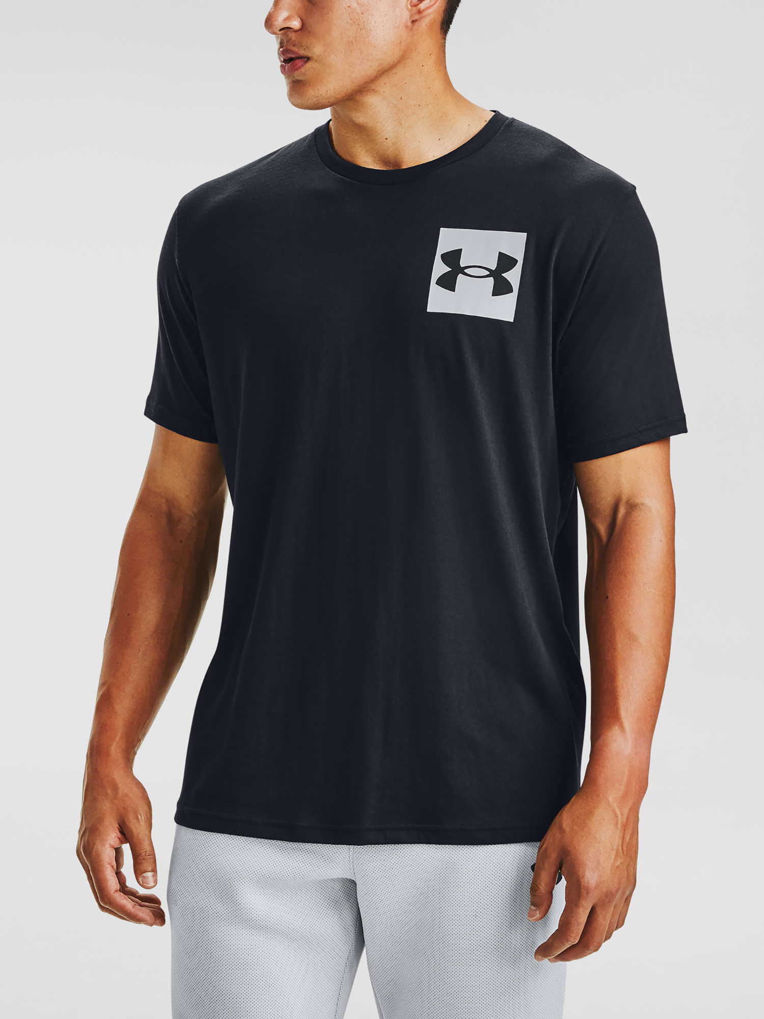 Tričko Under Armour UA BOX LOGO SS-BLK (1)
