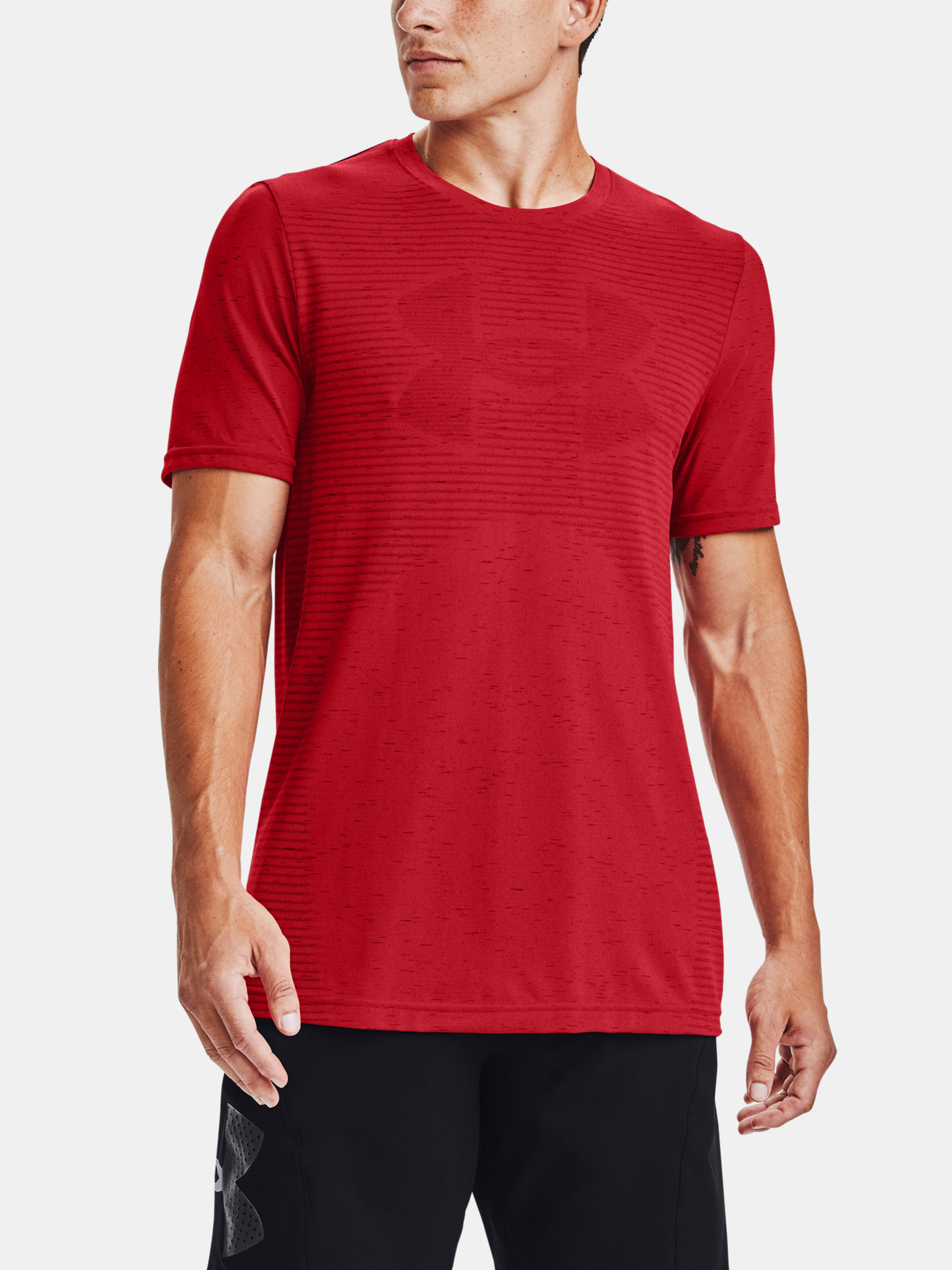 Tričko Under Armour Seamless Logo SS-RED (1)