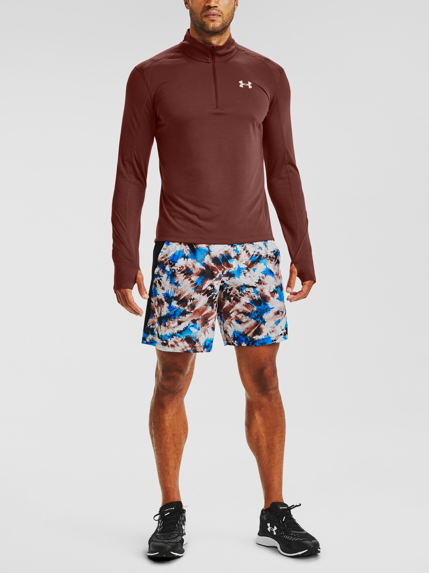 Kraťasy Under Armour UA LAUNCH SW 7'' PRINTED SHORT-RED (7)