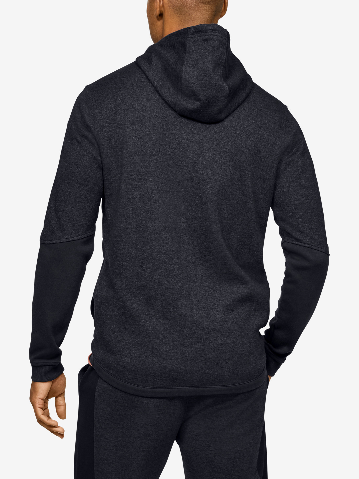Mikina Under Armour DOUBLE KNIT FZ HOODIE-BLK (2)