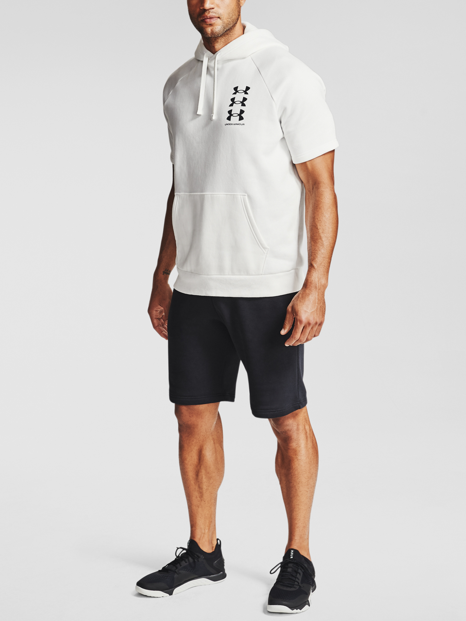 Mikina Under Armour UA Rival Flc Multilogo SS HD-WHT (3)