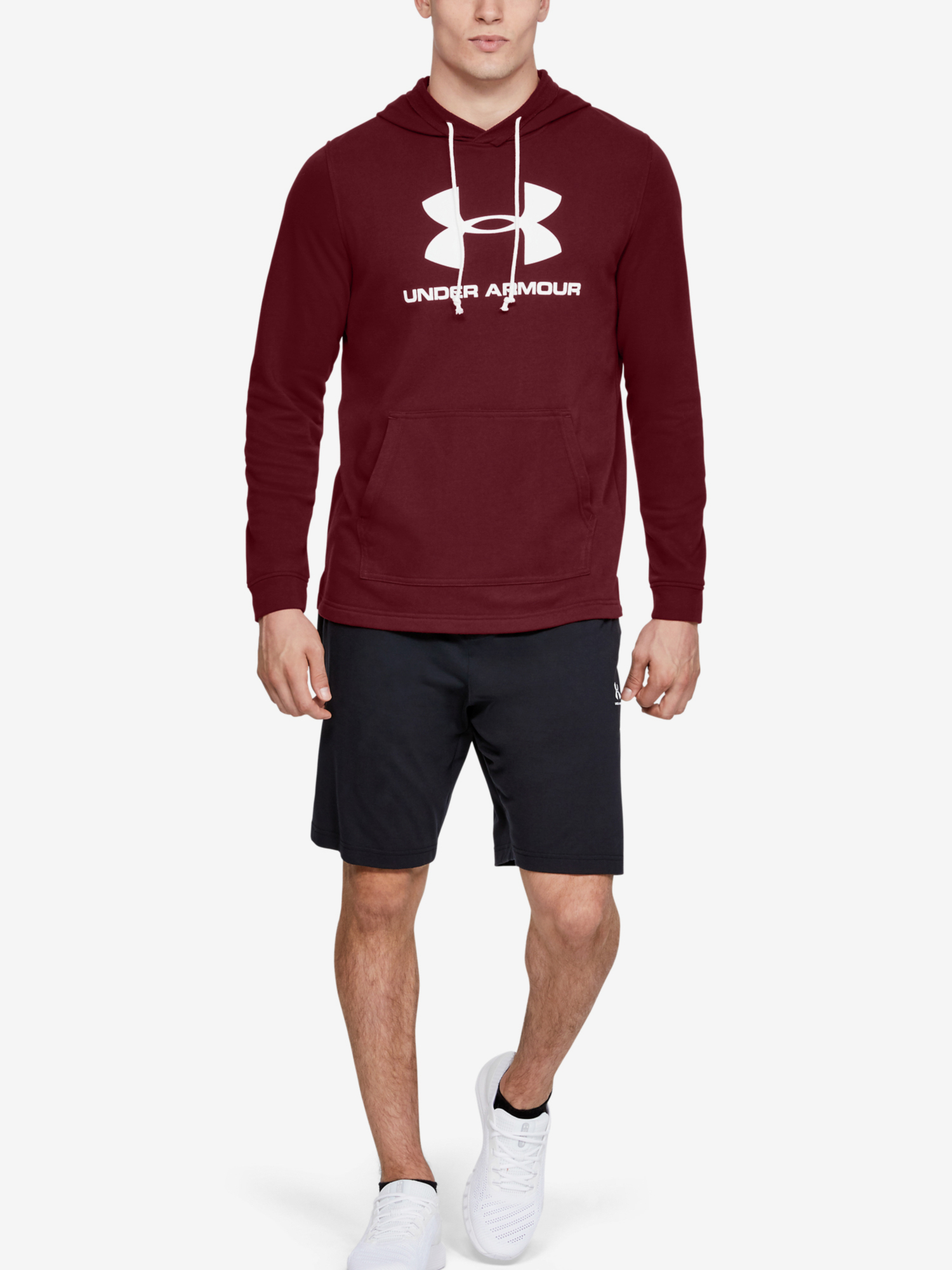 Mikina Under Armour SPORTSTYLE TERRY LOGO HOODIE-RED (6)