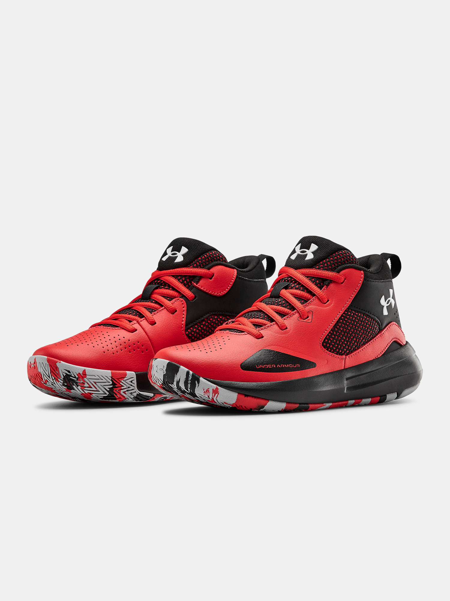 Topánky Under Armour UA GS Lockdown 5-RED (3)