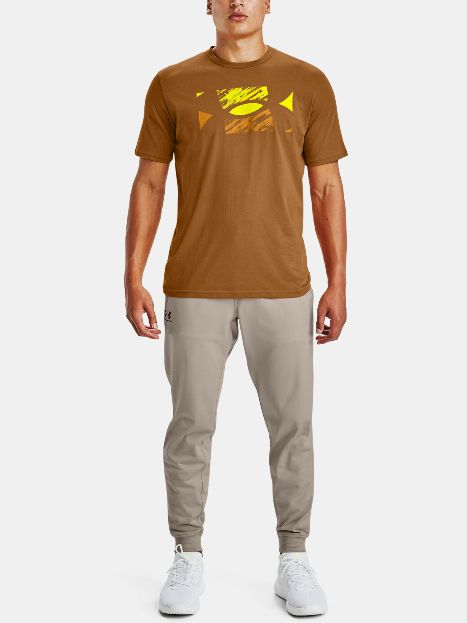 Tričko Under Armour UA BIG LOGO SKETCH SS-YLW (3)