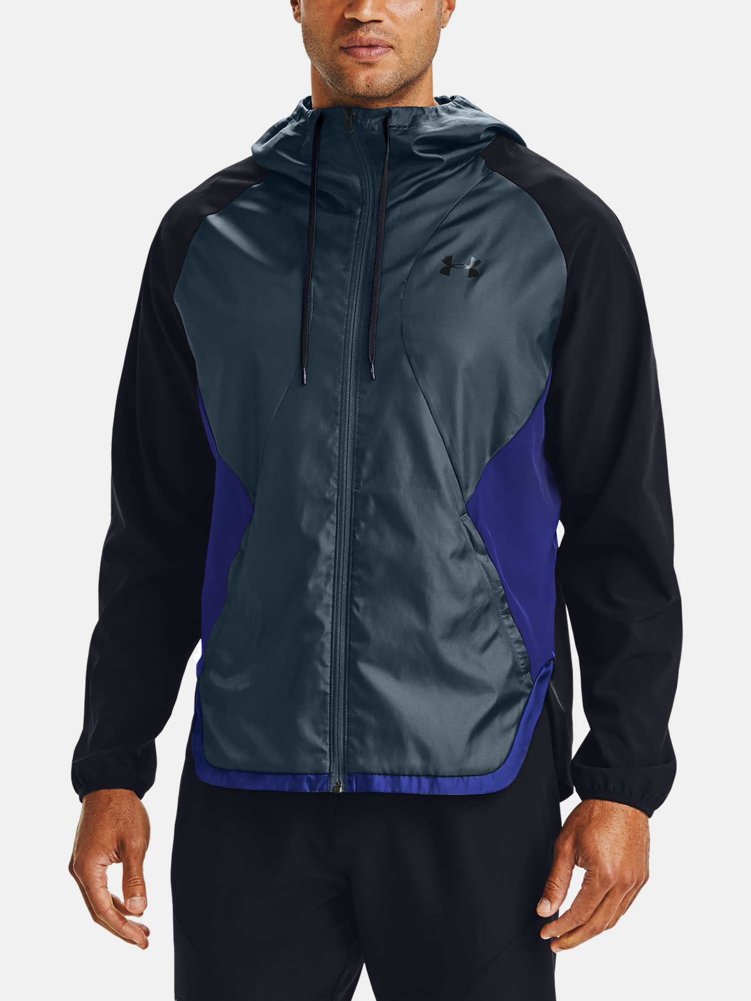 Bunda Under Armour STRETCH-WOVEN HOODED JACKET-BLK (5)