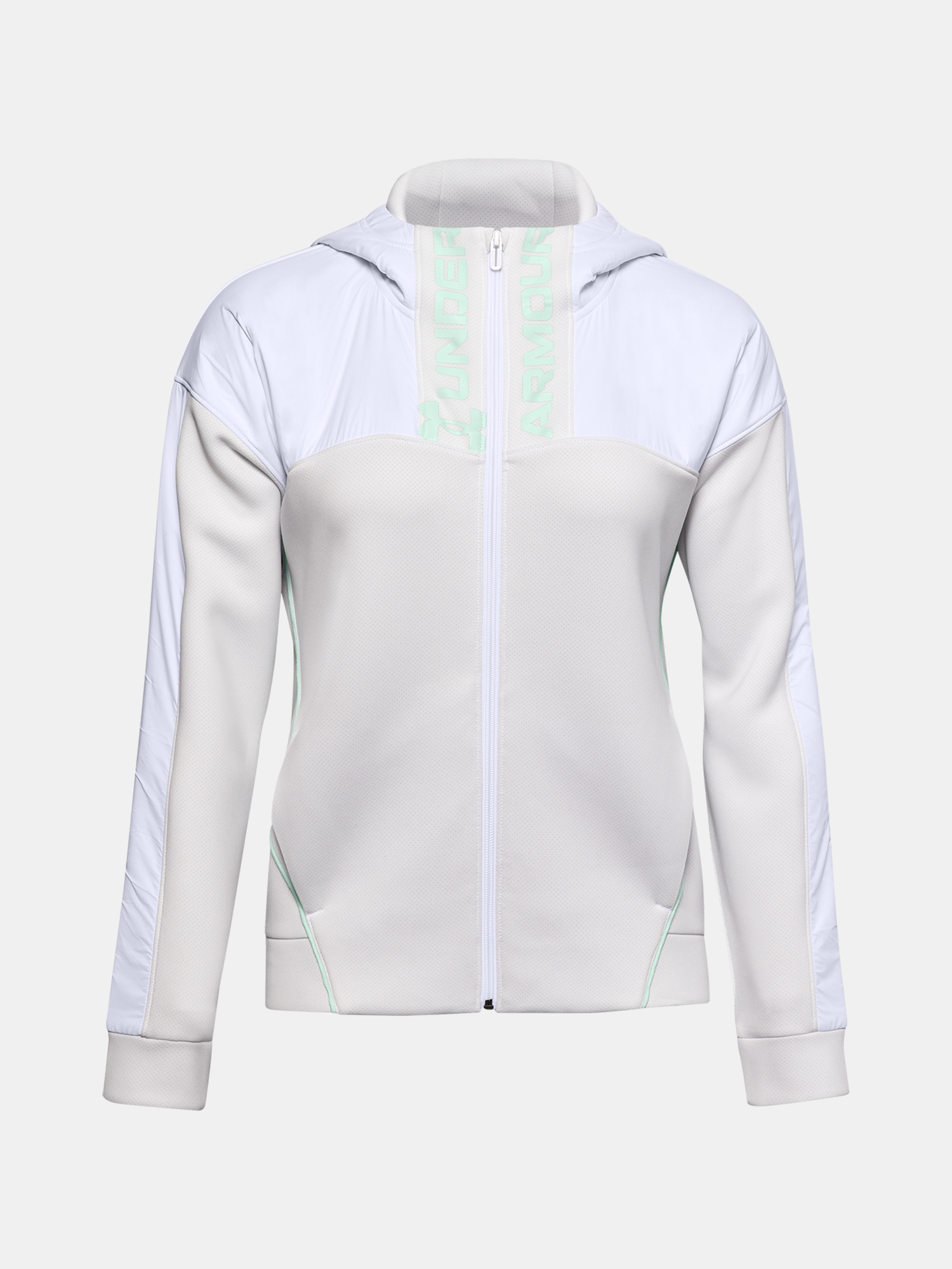 Mikina Under Armour Move FZ Hoodie-WHT (1)