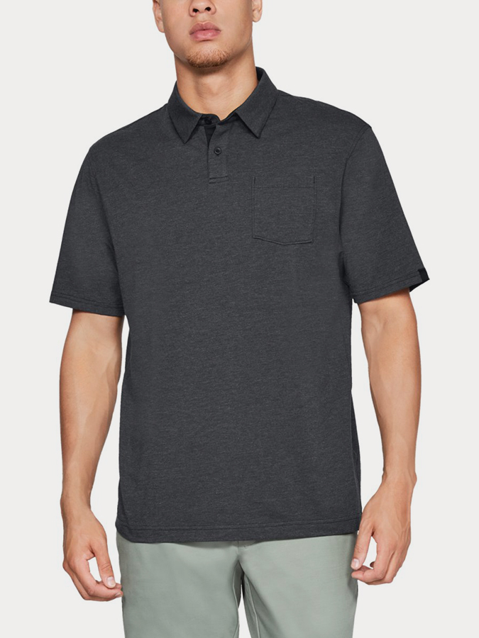 Tričko Under Armour CC Scramble Polo-BLK (1)