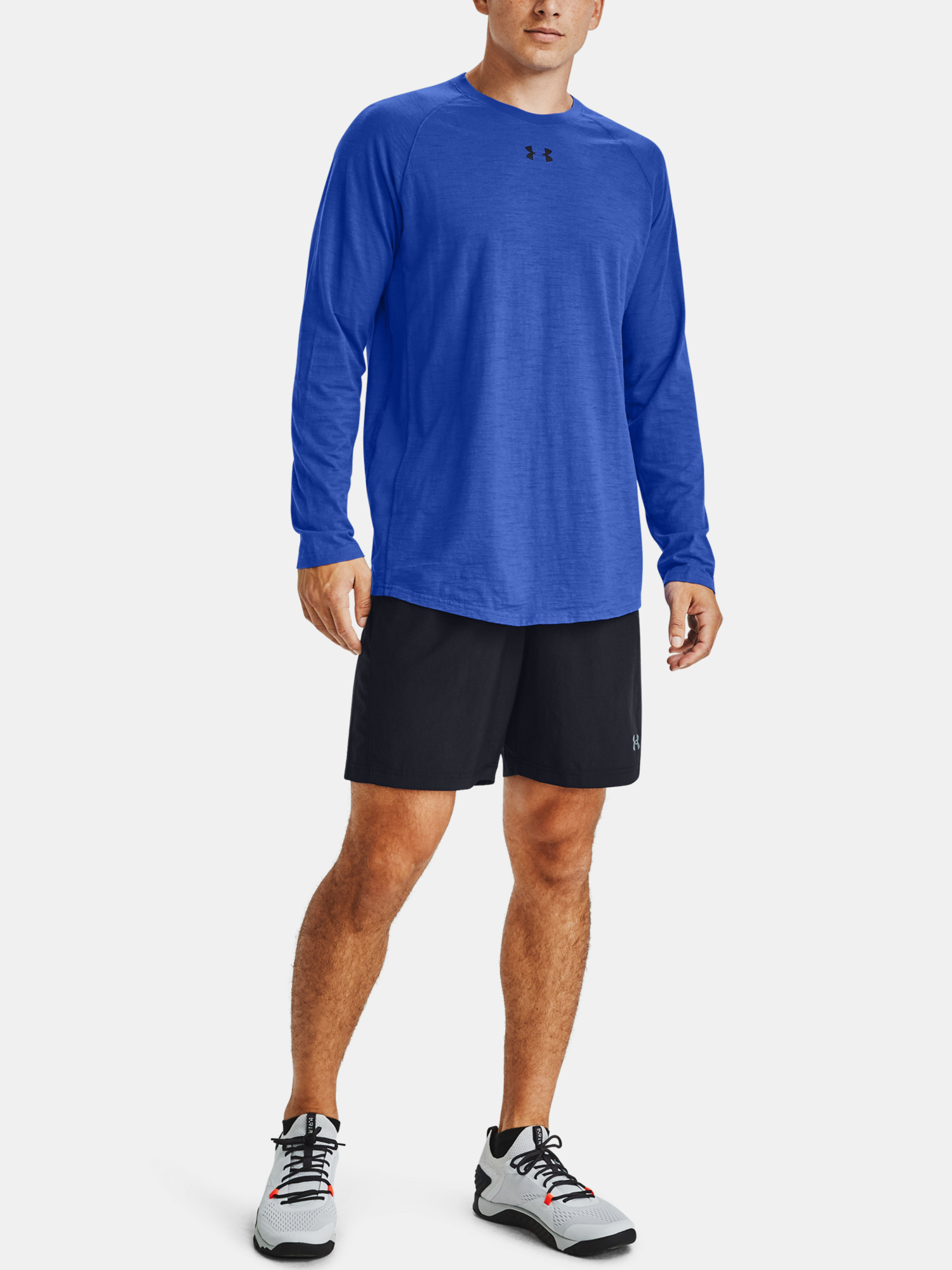Tričko Under Armour Charged Cotton LS-BLU (7)