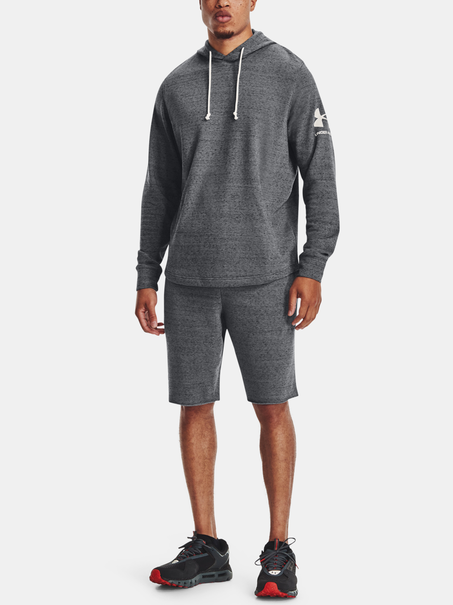 Kraťasy Under Armour  RIVAL TERRY SHORT-GRY (6)