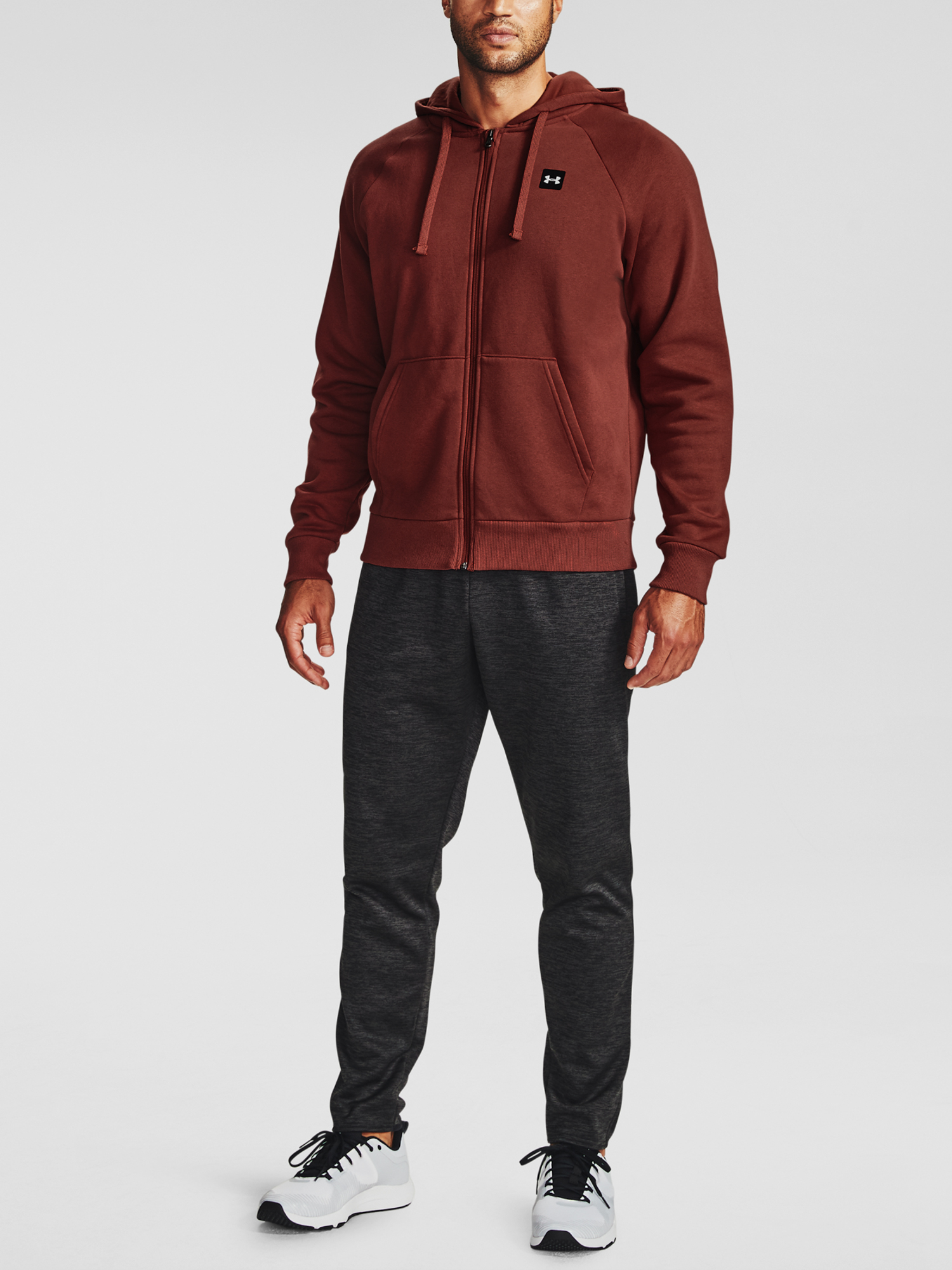 Mikina Under Armour UA Rival Fleece FZ Hoodie-RED (3)