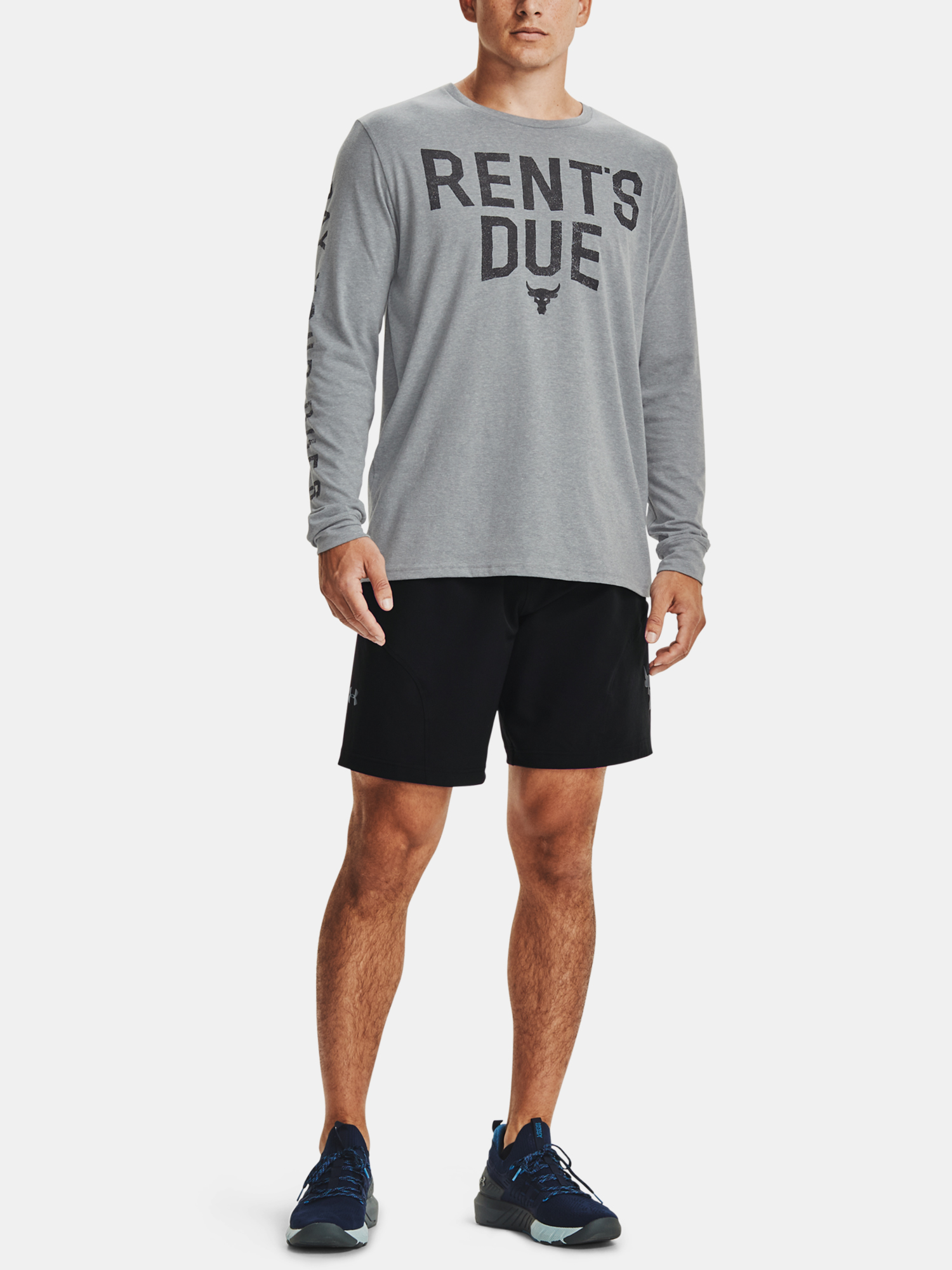 Tričko Under Armour PJT ROCK RENTS DUE LS-GRY (7)