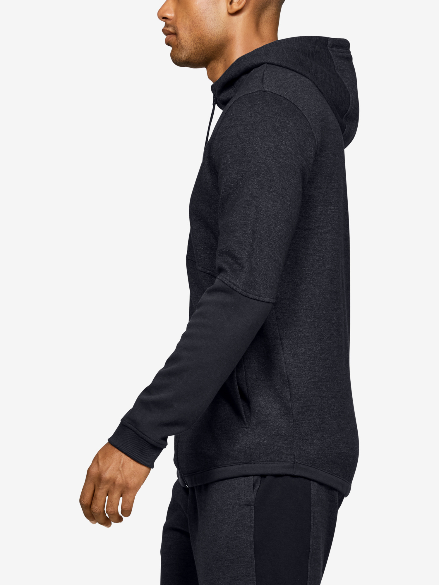 Mikina Under Armour DOUBLE KNIT FZ HOODIE-BLK (3)