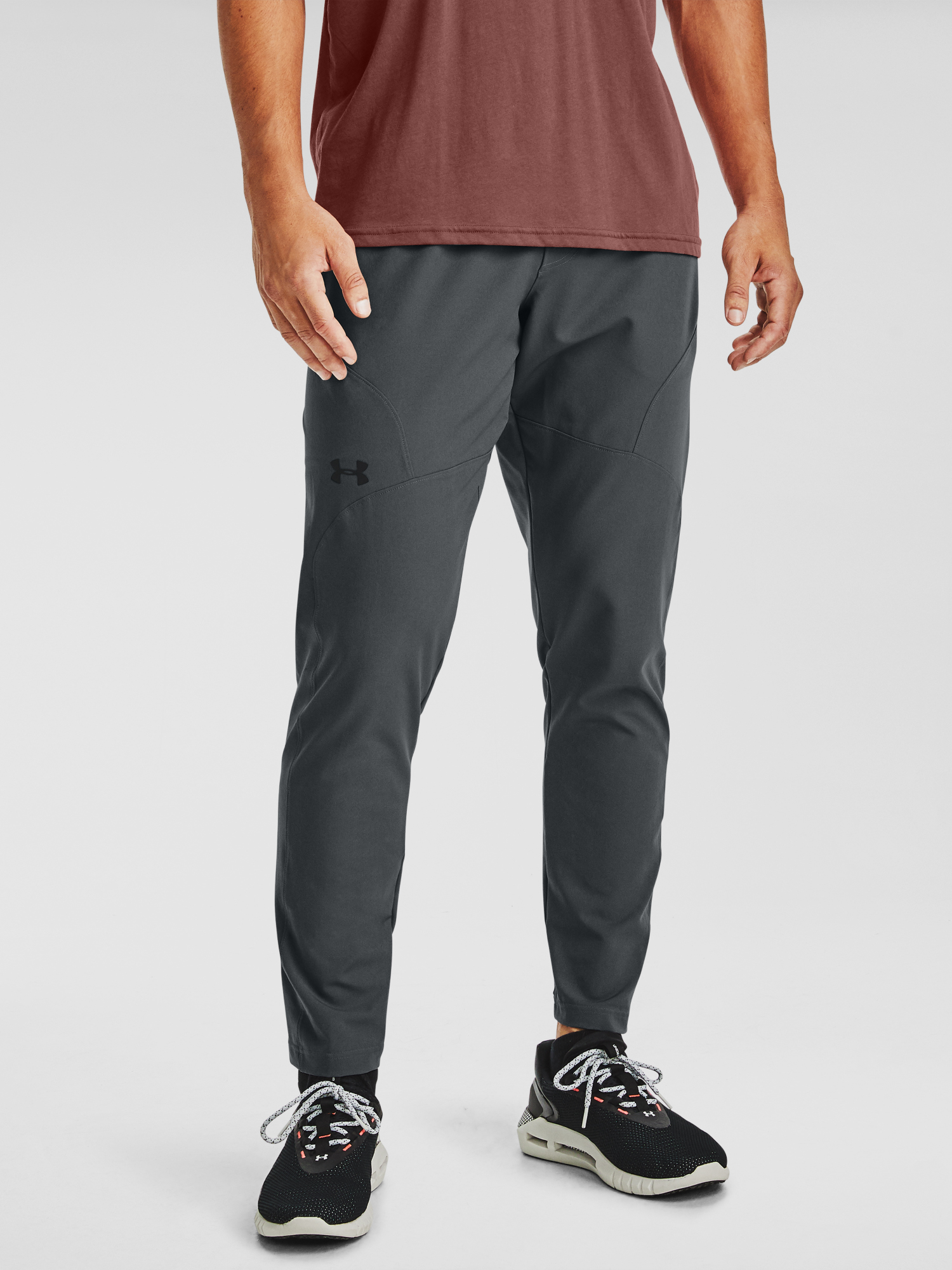Tepláky Under Armour UA UNSTOPPABLE TAPERED PANTS-GRY (3)