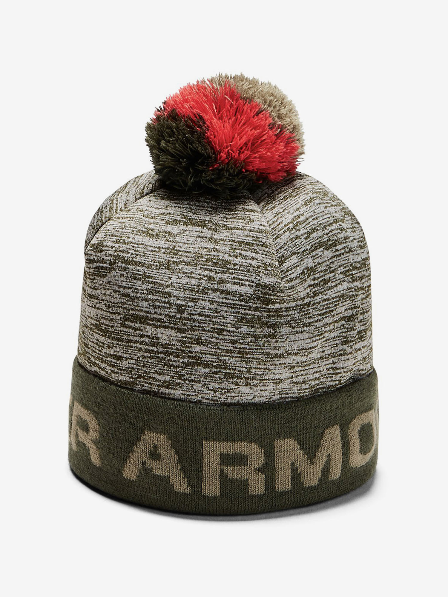 Čapica Under Armour Boy\'S Gametime Pom Beanie-Grn (1)