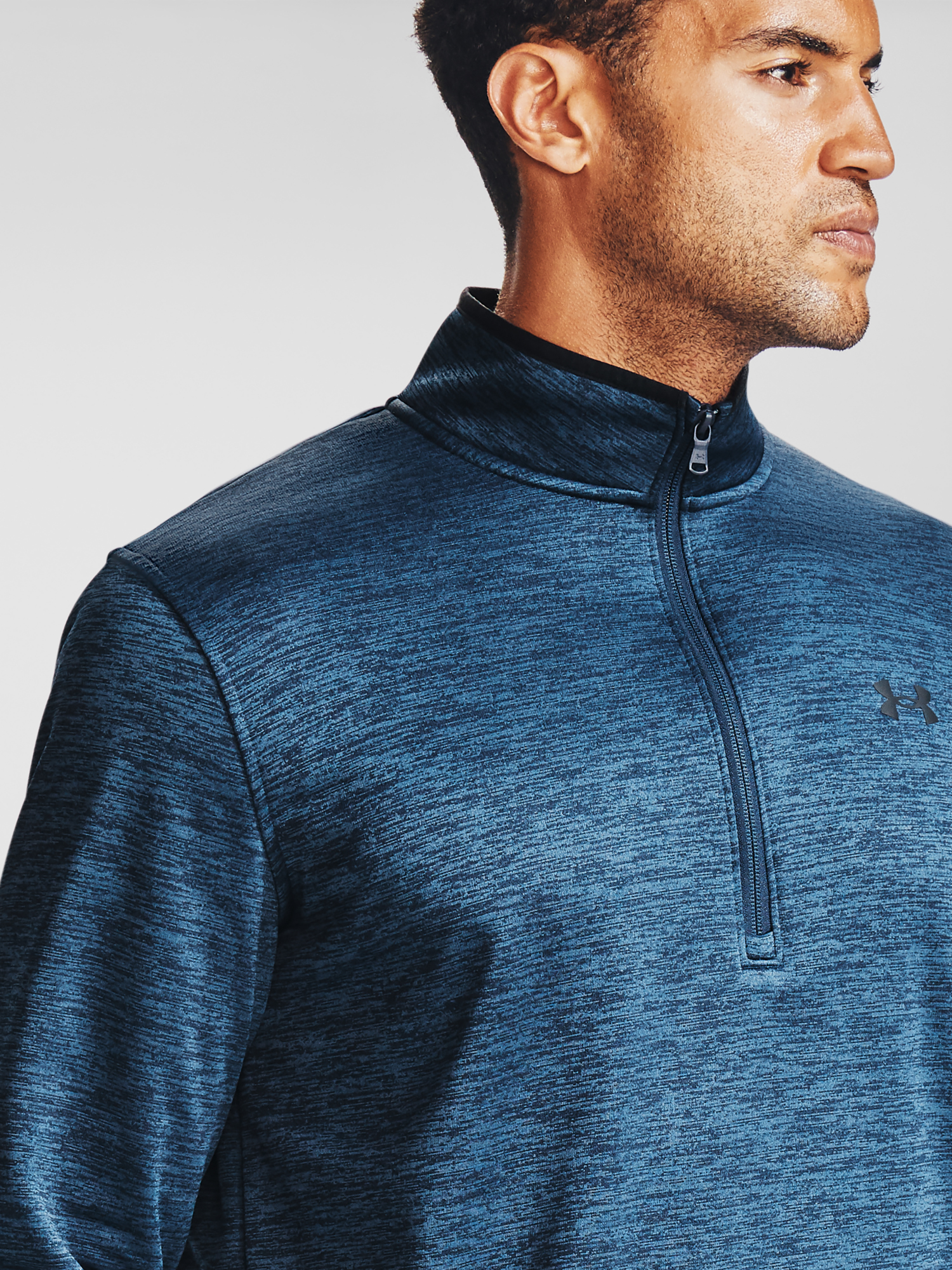 Mikina Under Armour Armour Fleece 1/2 ZIP-NVY (4)