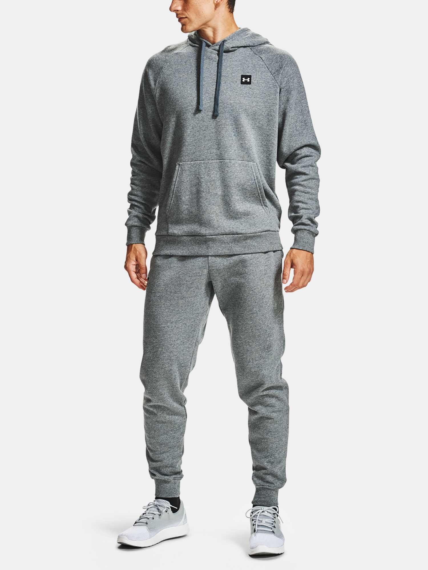 Mikina Under Armour UA Rival Fleece Hoodie-GRY (3)