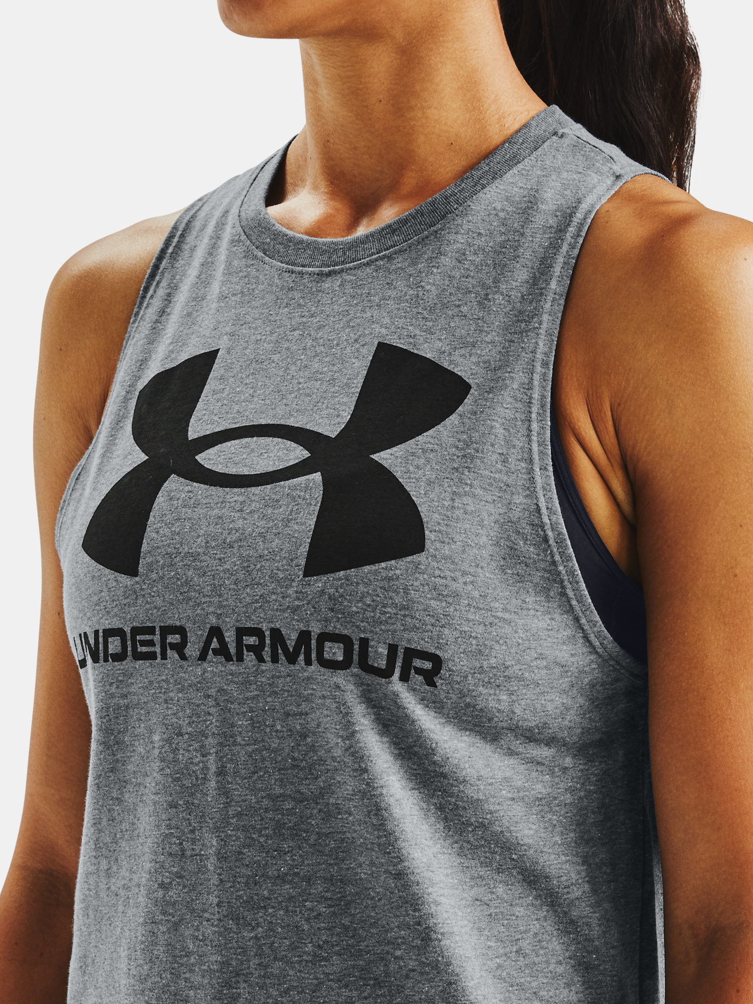 Tielko Under Armour Sportstyle Graphic Tank-GRY (3)