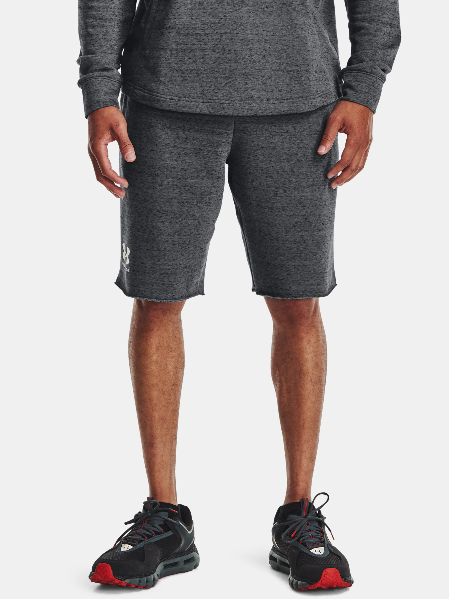 Kraťasy Under Armour  RIVAL TERRY SHORT-GRY (1)