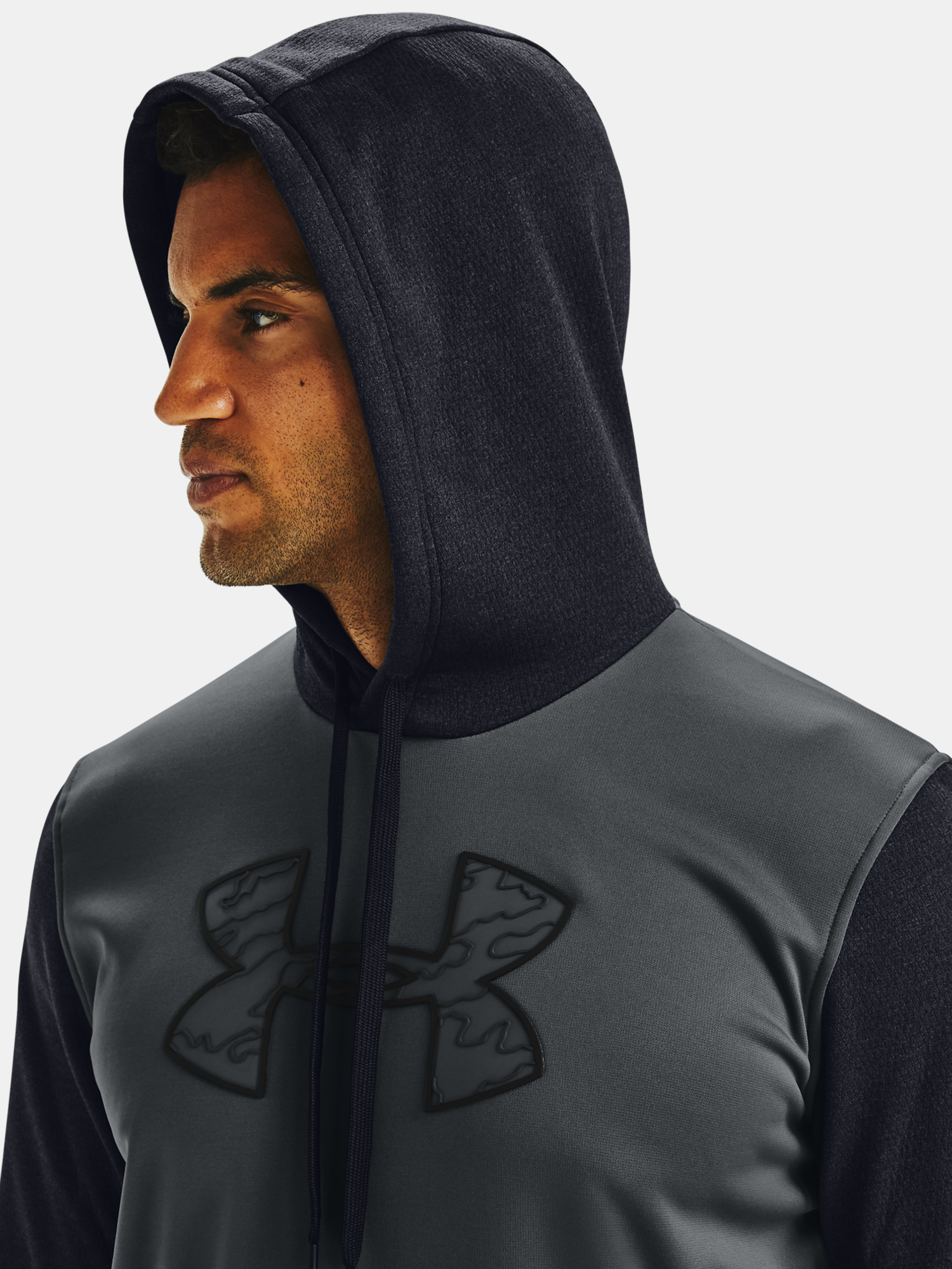 Mikina Under Armour AF Textured Big Logo HD-GRY (5)