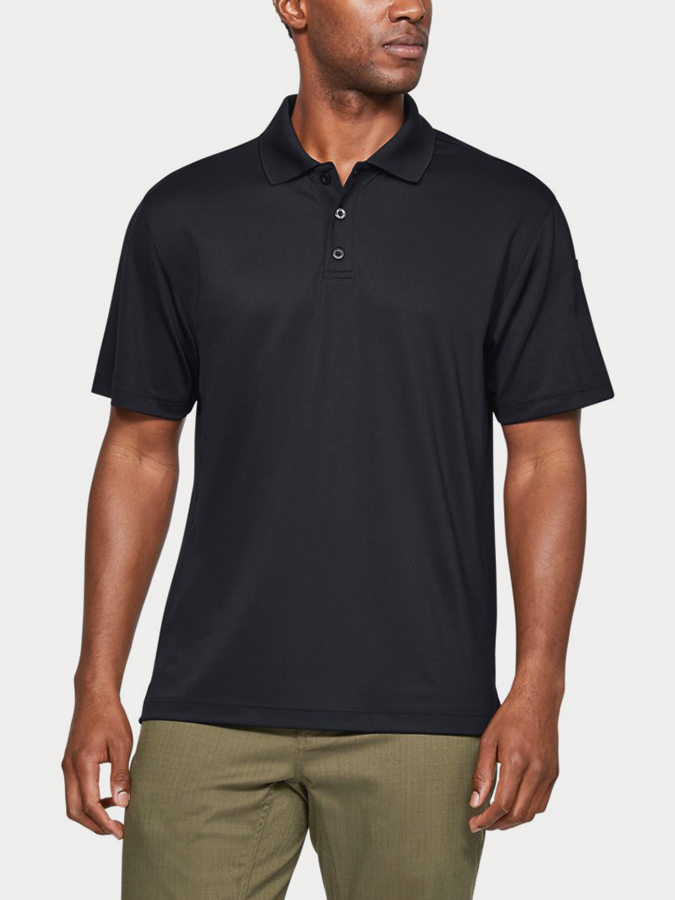 Triko Under Armour TAC PERFORMANCE POLO-BLK (1)
