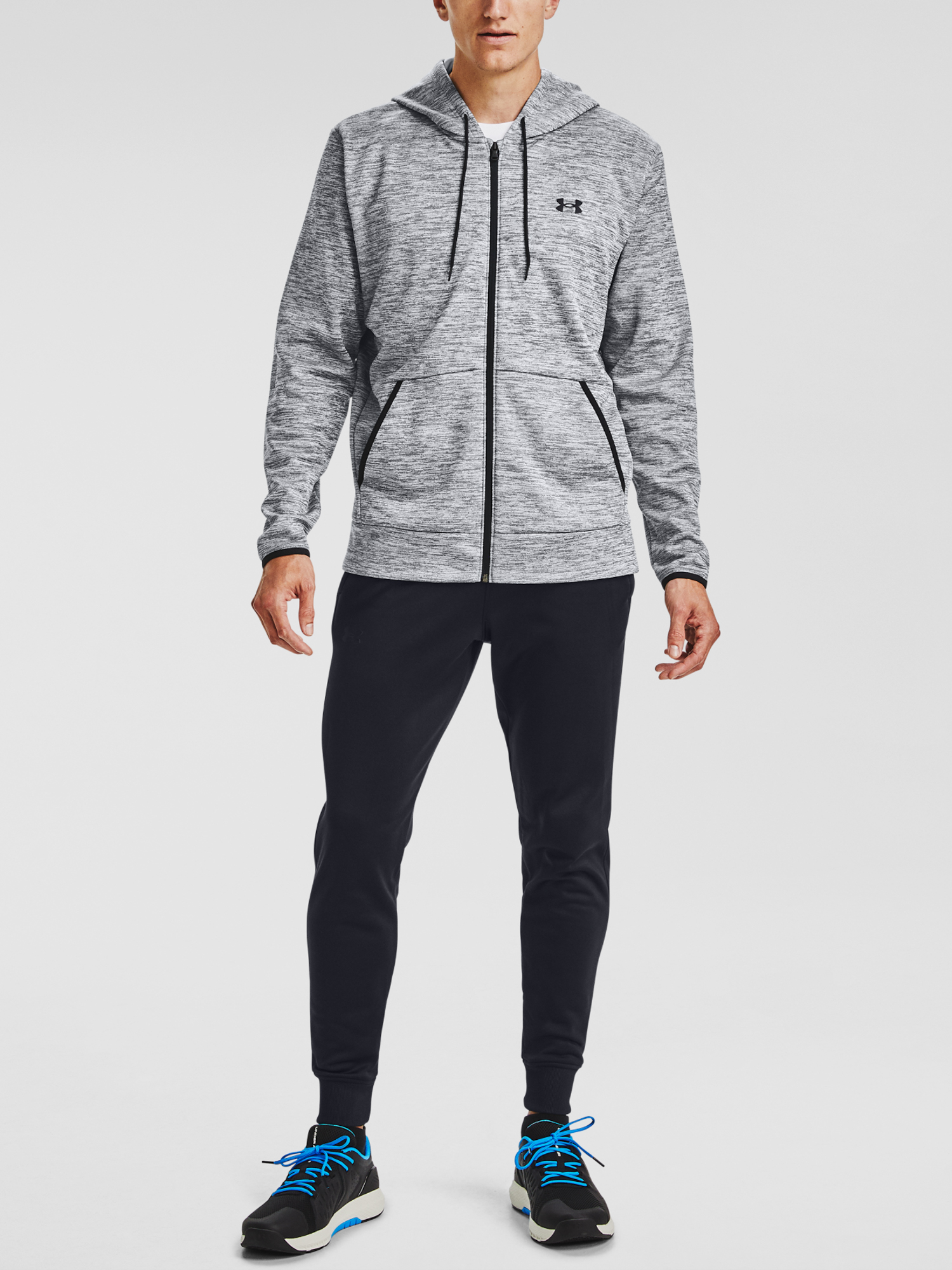 Mikina Under Armour UA Armour Fleece FZ Hoodie-GRY (3)