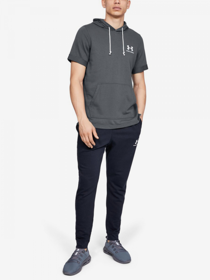 Mikina Under Armour Sportstyle Terry Ss Hoody-Gry (5)