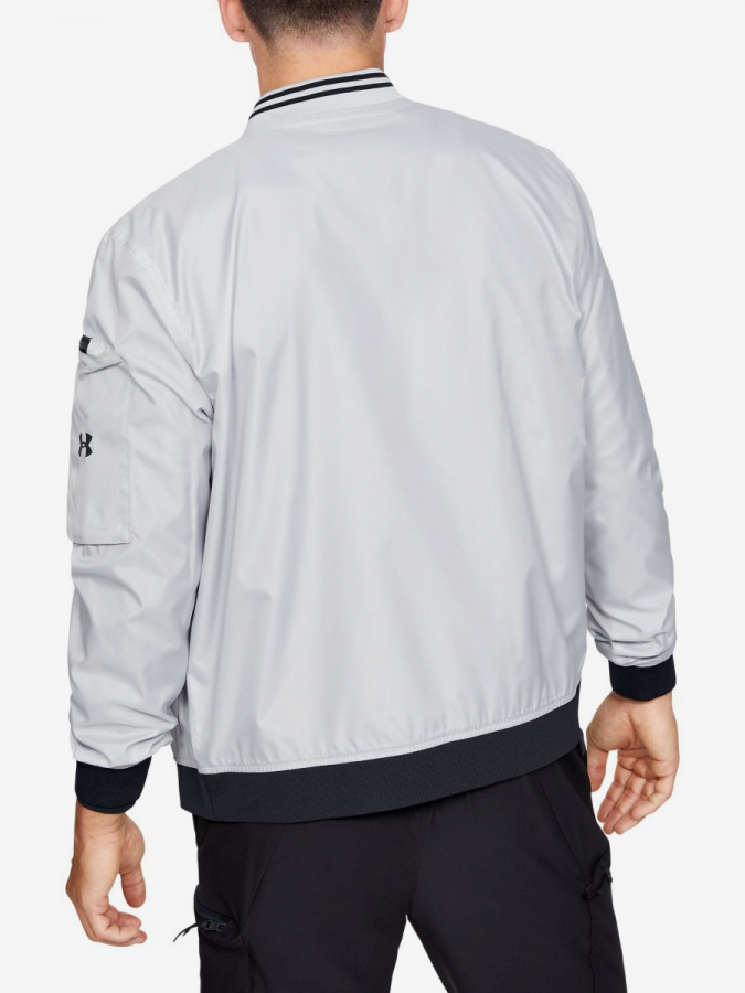 Bunda Under Armour Unstoppable Woven Bomber-Gry (2)