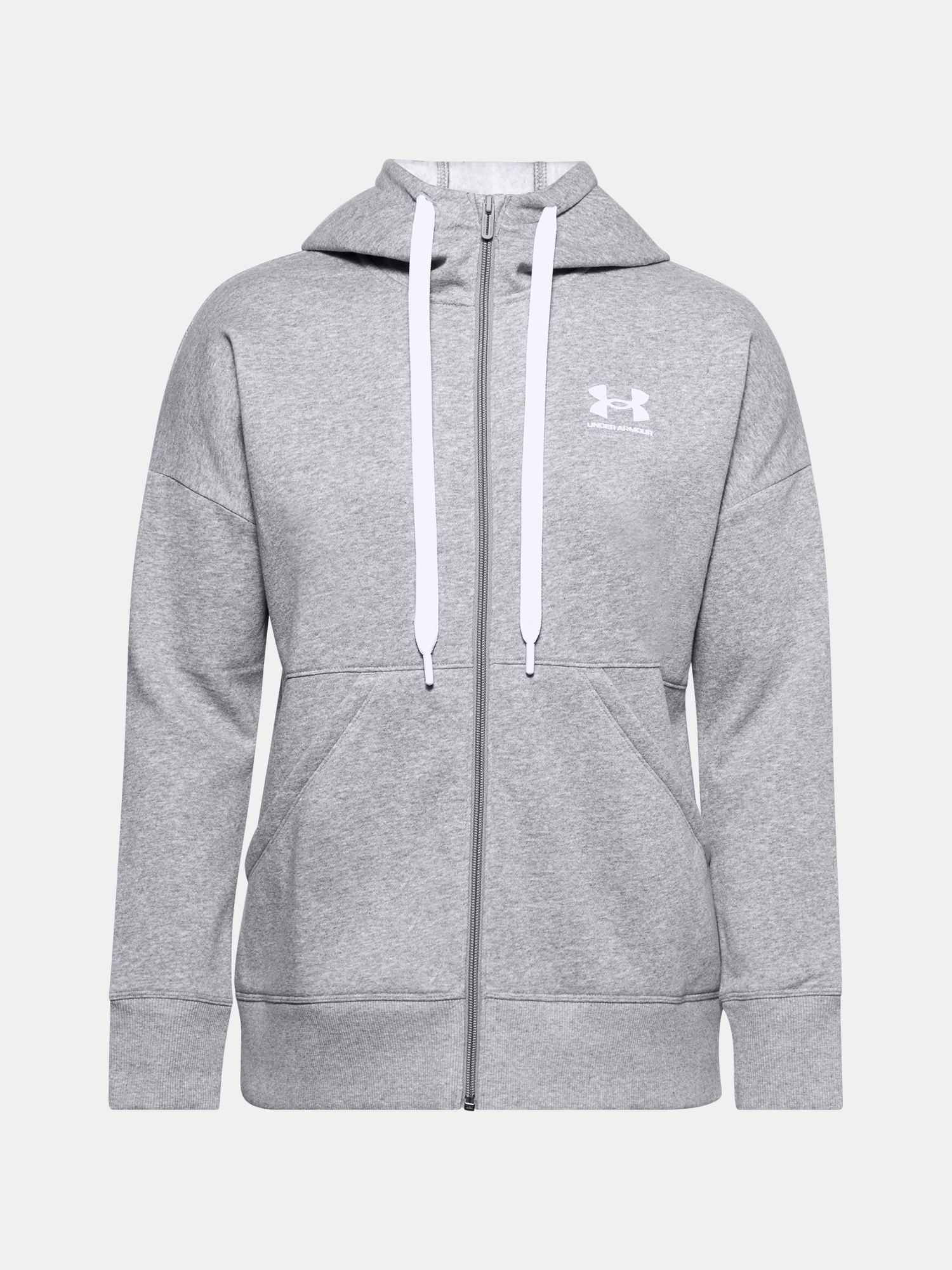 Mikina Under Armour Rival Fleece FZ Hoodie-GRY (1)